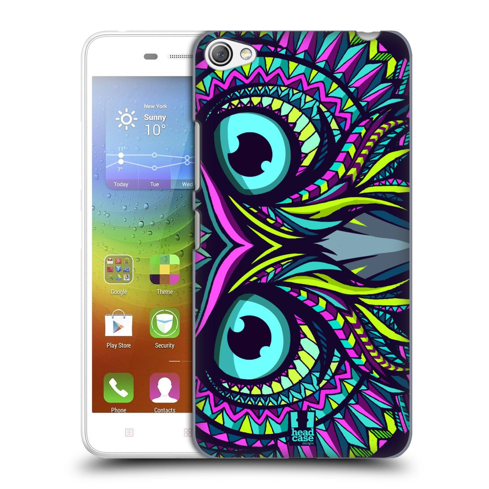 HEAD CASE pevný plastový obal na mobil LENOVO S60 / LENOVO S60 DUAL SIM vzor Aztécký motiv zvíře sova