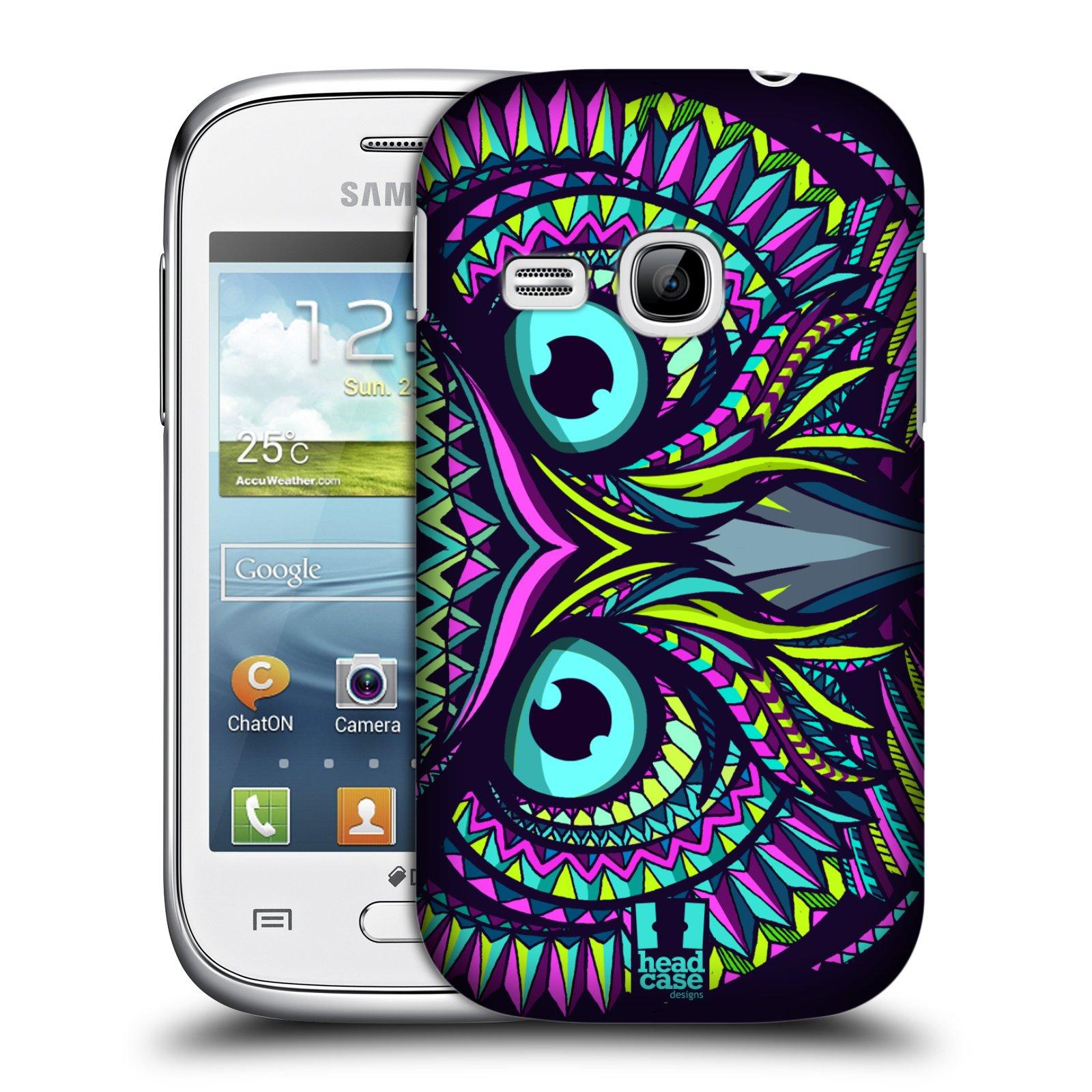 HEAD CASE plastový obal na mobil SAMSUNG Galaxy Young S6310 vzor Aztécký motiv zvíře sova