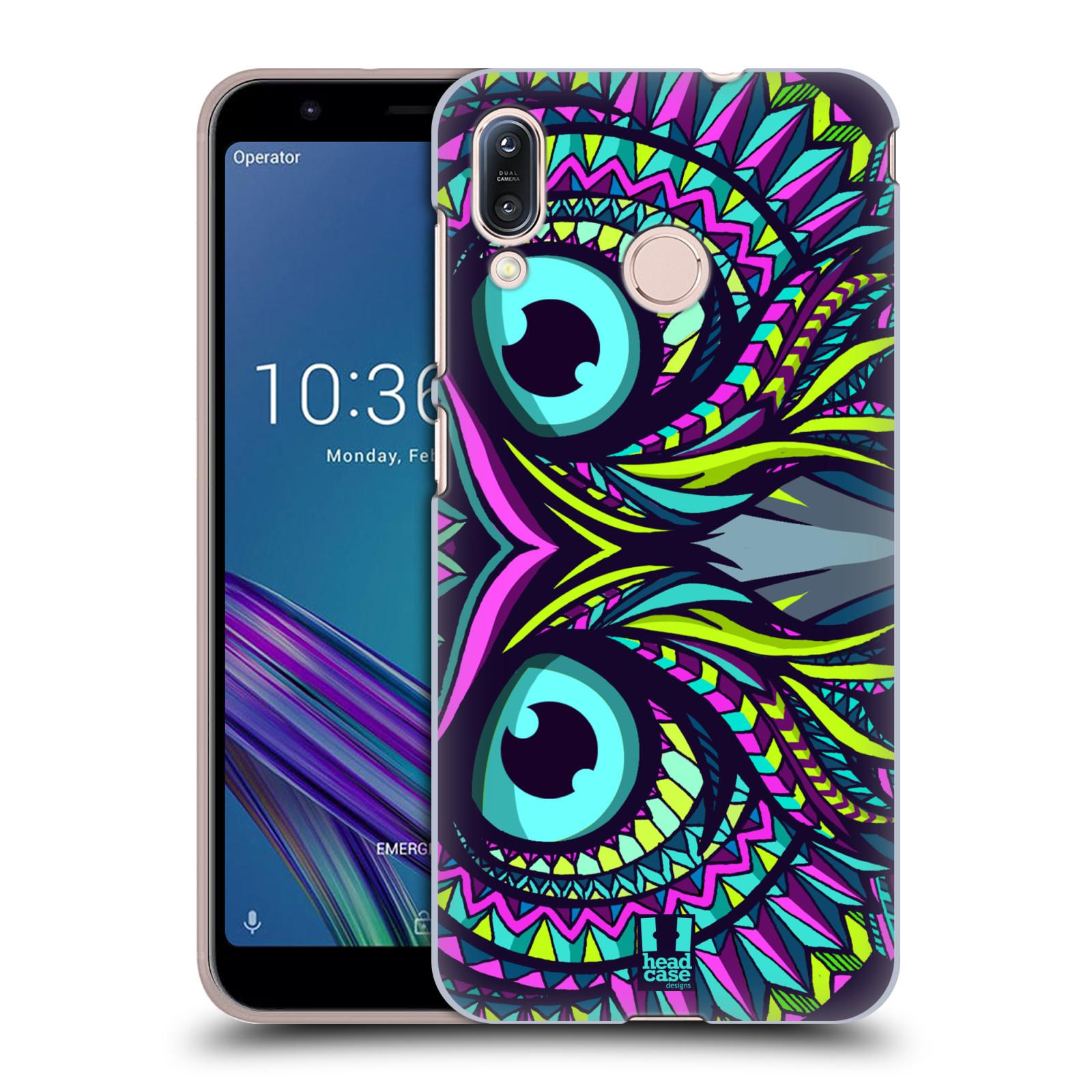 Pouzdro na mobil Asus Zenfone Max M1 (ZB555KL) - HEAD CASE - vzor Aztécký motiv zvíře sova