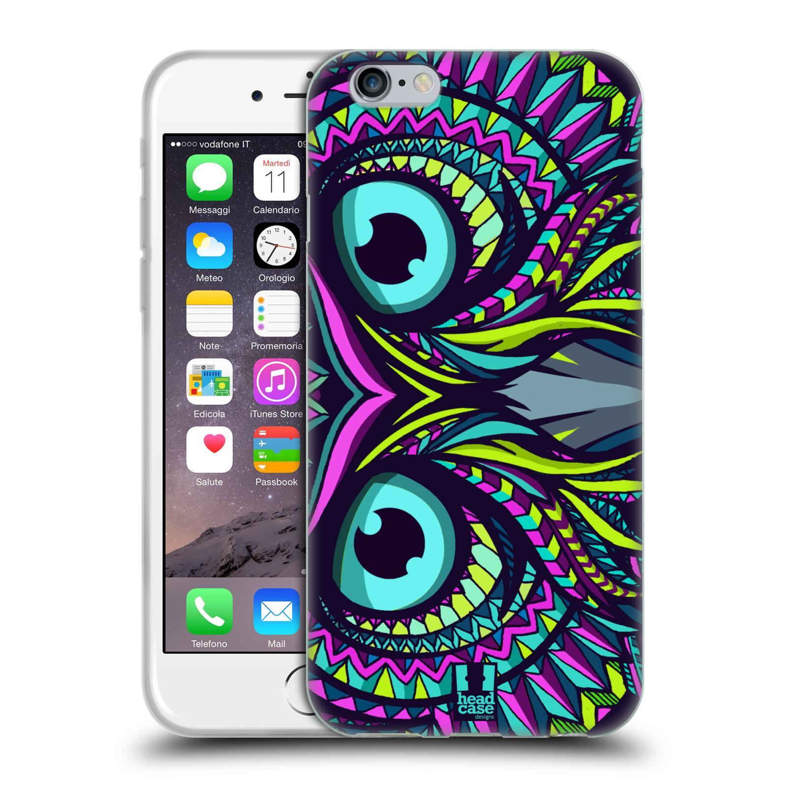 HEAD CASE silikonový obal na mobil Apple Iphone 6/6S vzor Aztécký motiv zvíře sova