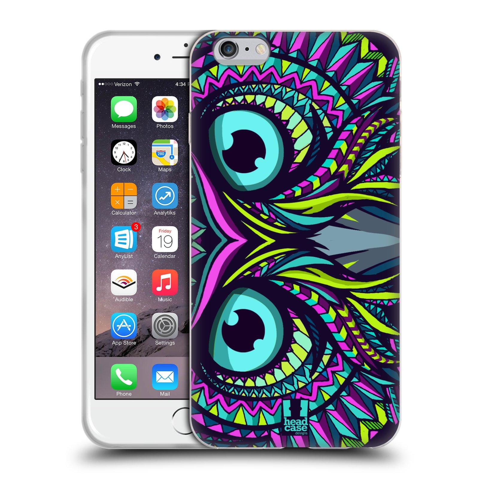 HEAD CASE silikonový obal na mobil Apple Iphone 6 PLUS/ 6S PLUS vzor Aztécký motiv zvíře sova