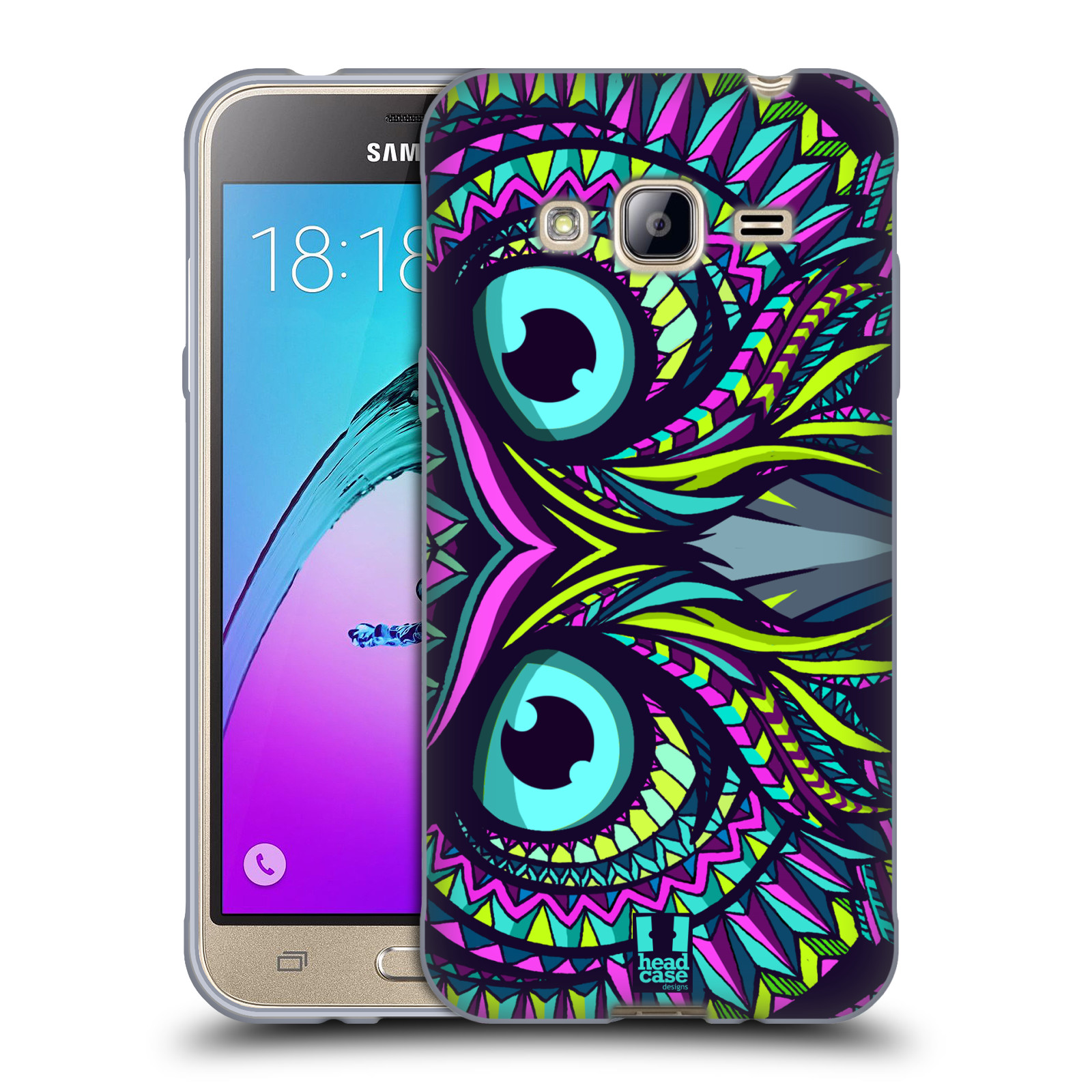 HEAD CASE silikonový obal na mobil Samsung Galaxy J3, J3 2016 vzor Aztécký motiv zvíře sova