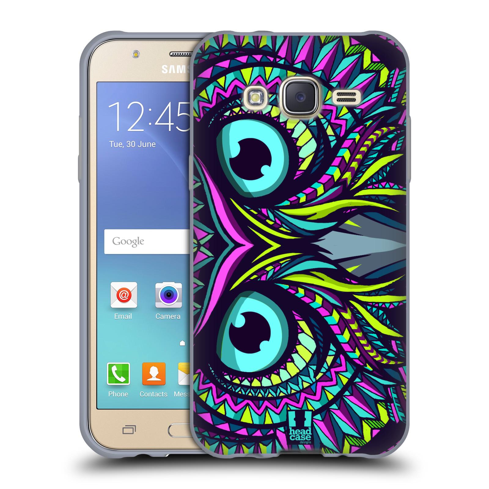 HEAD CASE silikonový obal na mobil Samsung Galaxy J5, J500, (J5 DUOS) vzor Aztécký motiv zvíře sova