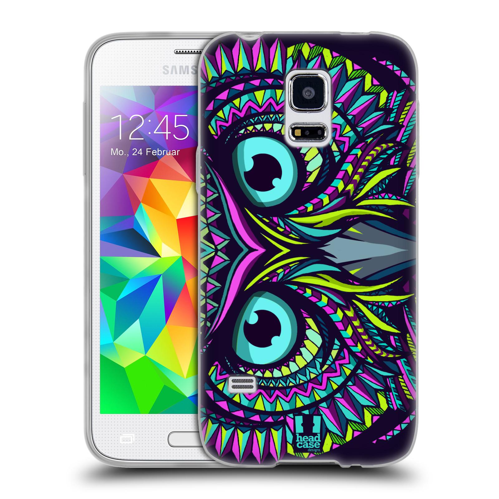 HEAD CASE silikonový obal na mobil Samsung Galaxy S5 MINI vzor Aztécký motiv zvíře sova