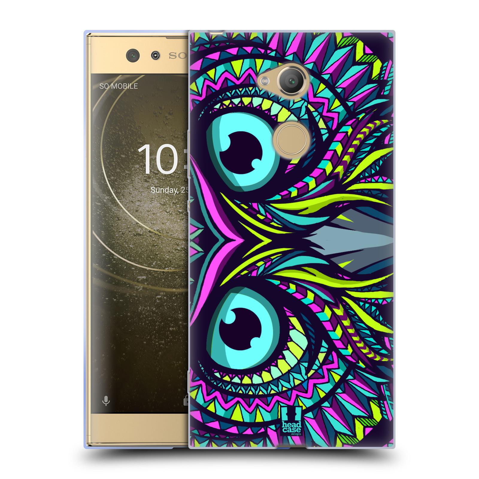 Pouzdro na mobil Sony Xperia XA2 Ultra vzor Aztécký motiv zvíře sova