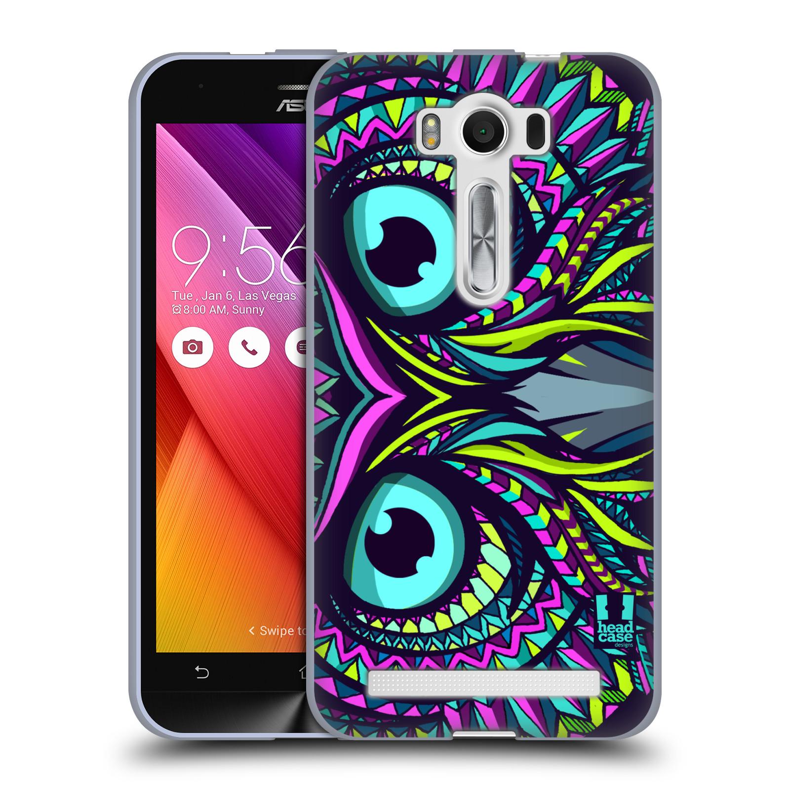 """HEAD CASE silikonový obal na mobil Asus Zenfone 2 LASER (ZE500KL s 5"""" displejem) vzor Aztécký motiv zvíře sova"""
