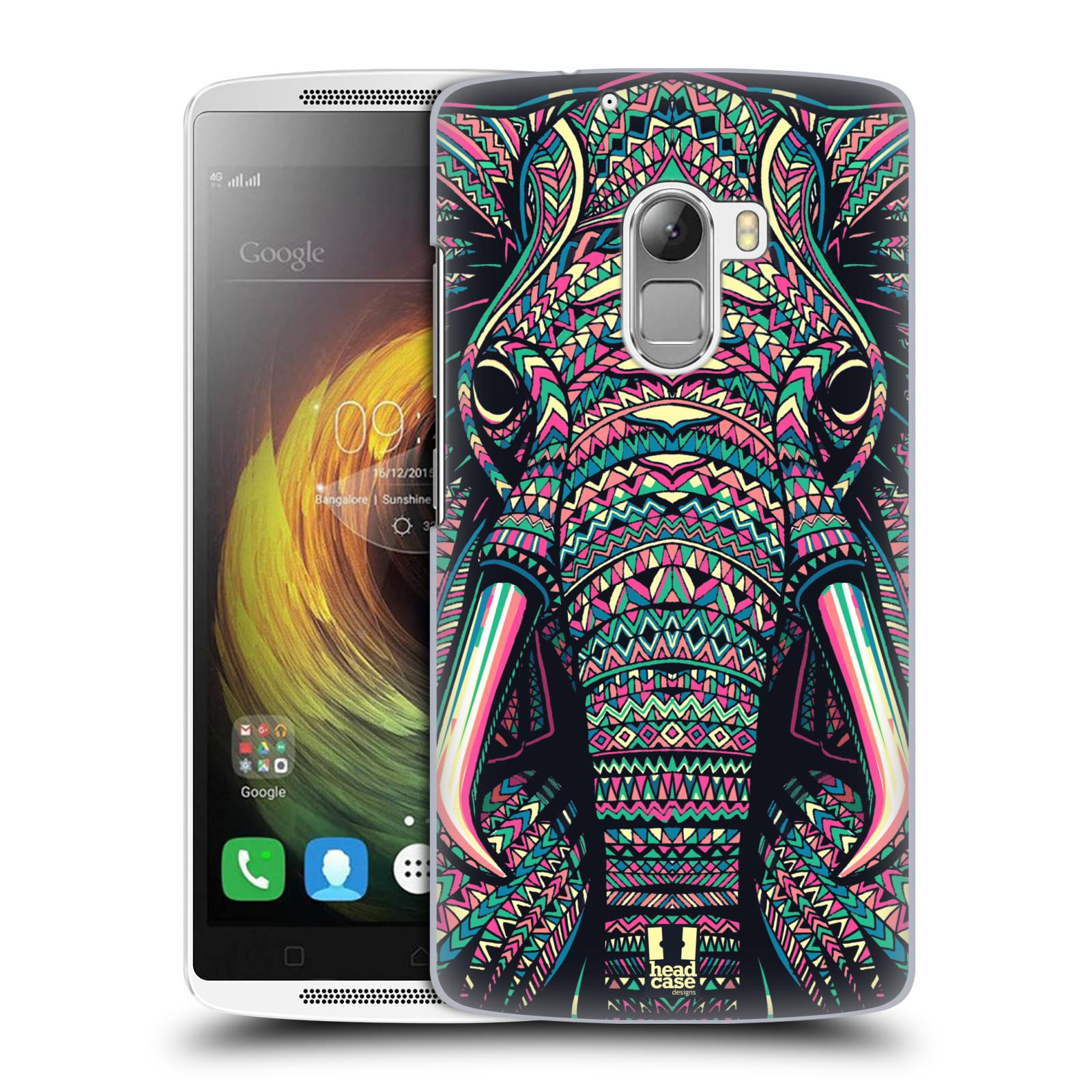 HEAD CASE pevný plastový obal na mobil LENOVO A7010 / A7010 DUAL / K4 Note / Vibe X3 lite vzor Aztécký motiv zvíře 2 slon
