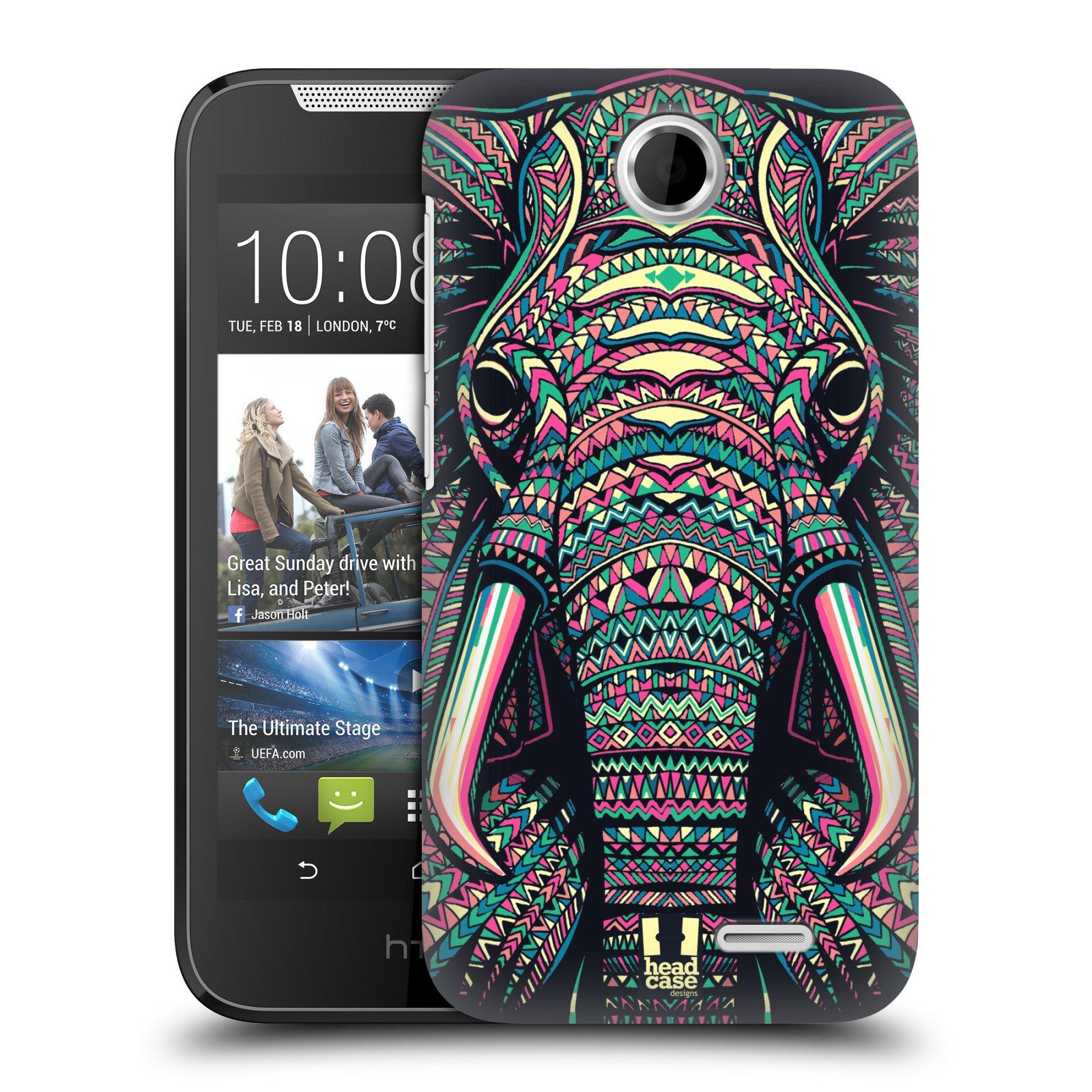 HEAD CASE plastový obal na mobil HTC Desire 310 vzor Aztécký motiv zvíře 2 slon