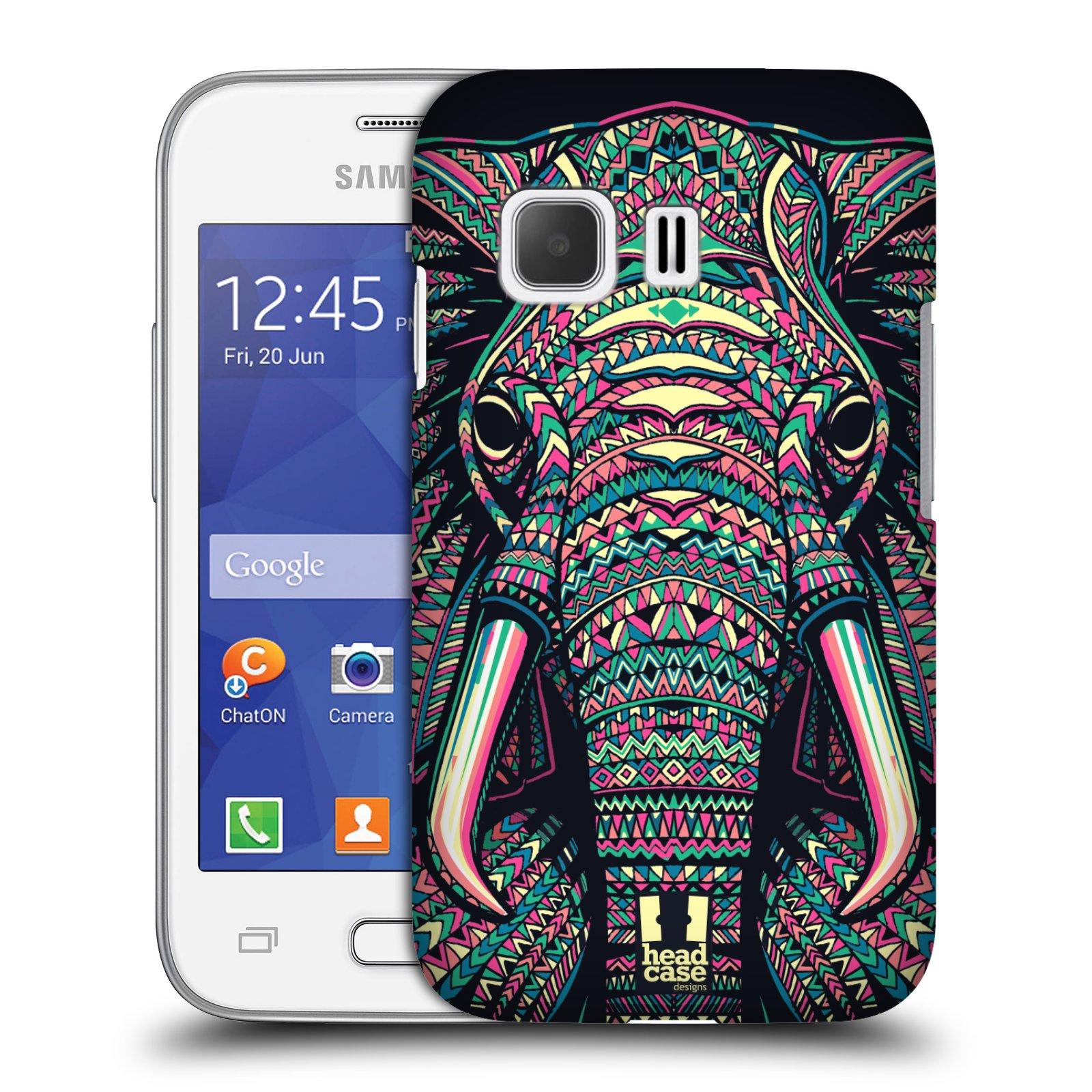 HEAD CASE plastový obal na mobil SAMSUNG Galaxy Young 2 (G130) vzor Aztécký motiv zvíře 2 slon