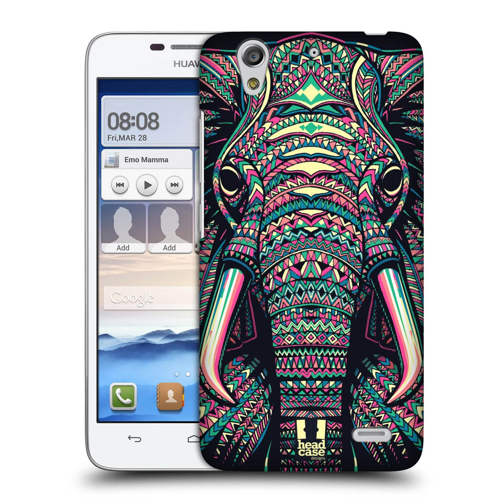 HEAD CASE DESIGNS AZTEC ANIMAL FACES SERIES 2 CASE COVER FOR HUAWEI ASCEND G630