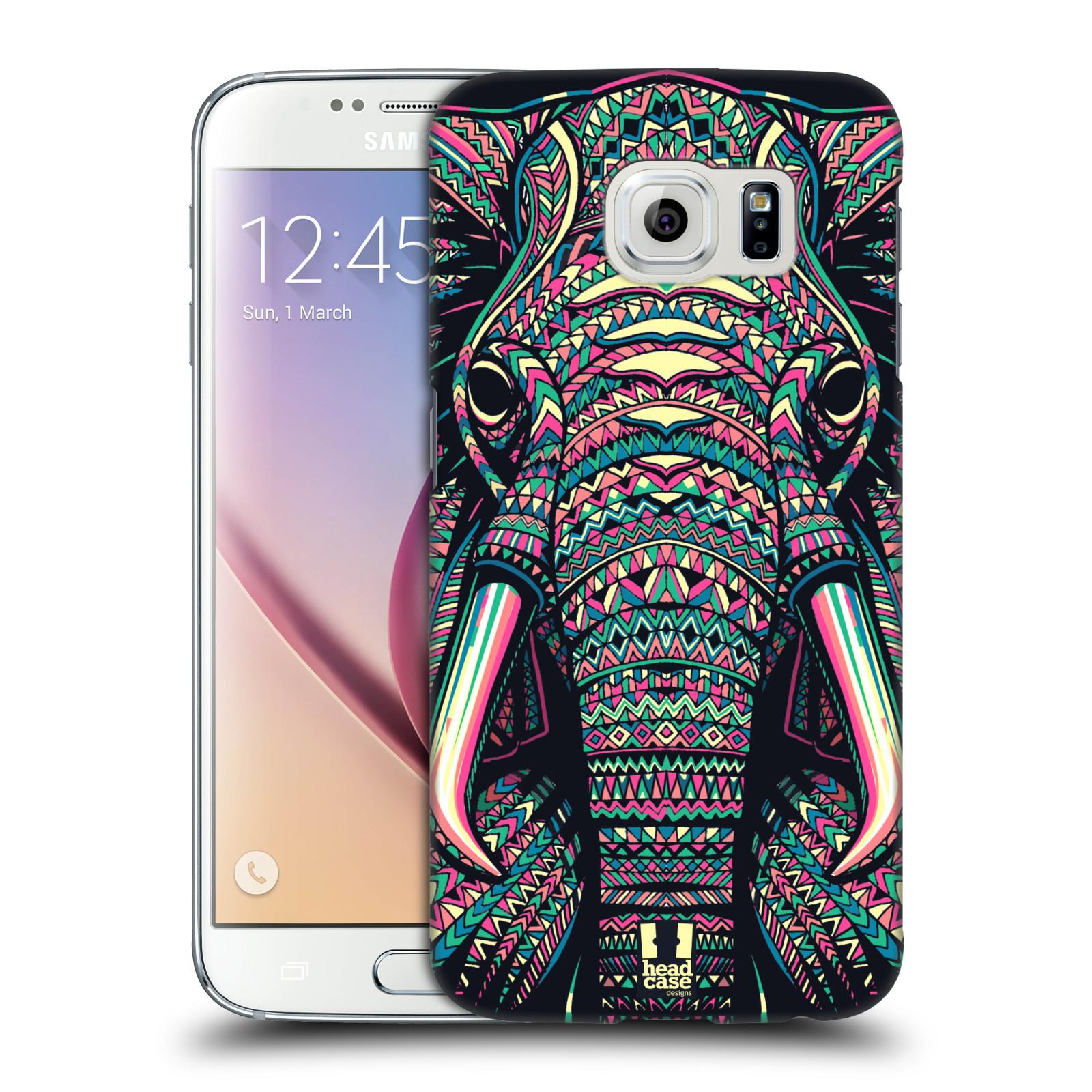 HEAD CASE plastový obal na mobil SAMSUNG Galaxy S6 (G9200, G920F) vzor Aztécký motiv zvíře 2 slon