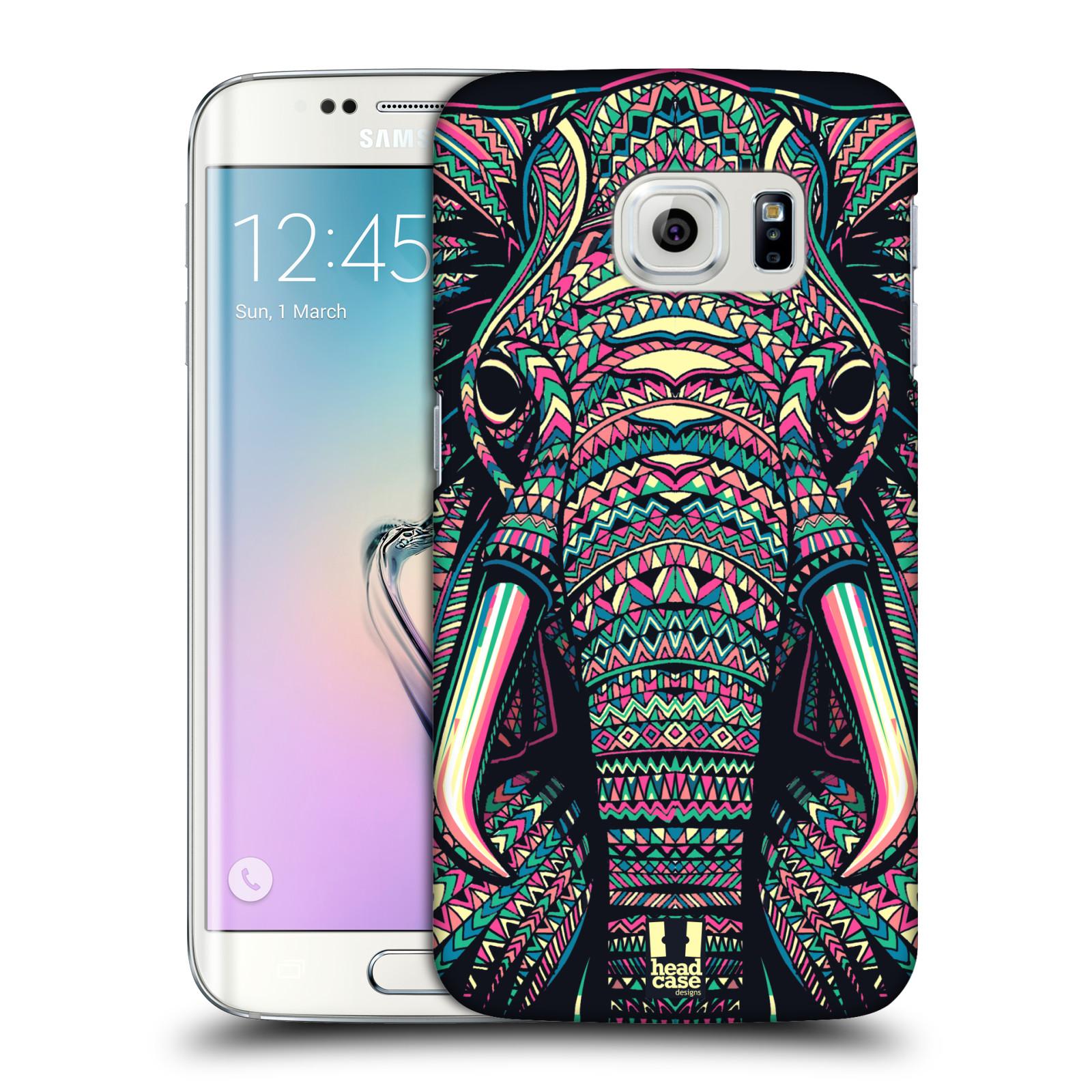 HEAD CASE plastový obal na mobil SAMSUNG Galaxy S6 EDGE (G9250, G925, G925F) vzor Aztécký motiv zvíře 2 slon