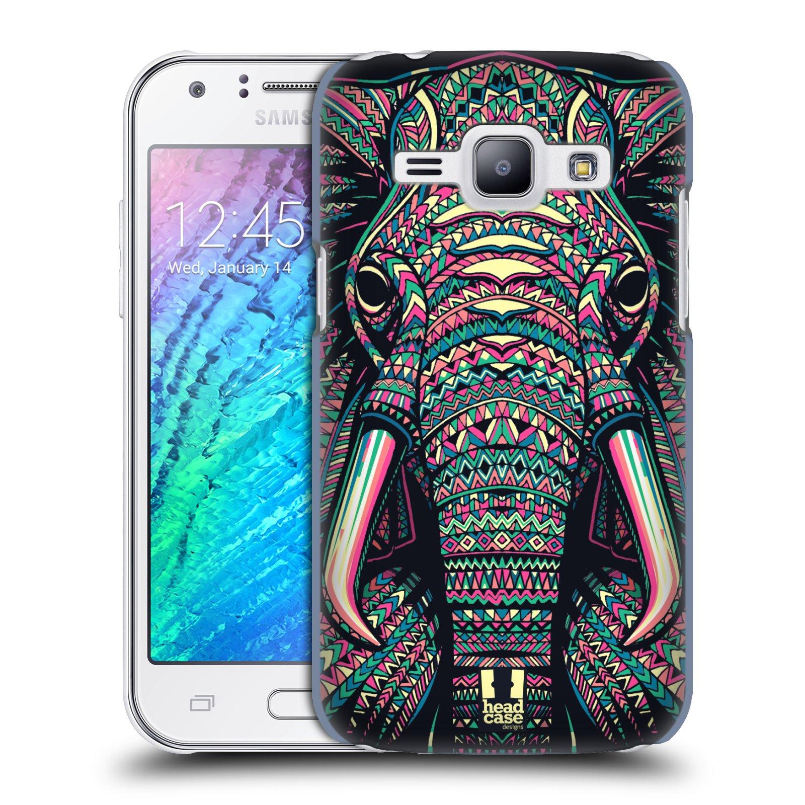 HEAD CASE plastový obal na mobil SAMSUNG Galaxy J1, J100 vzor Aztécký motiv zvíře 2 slon