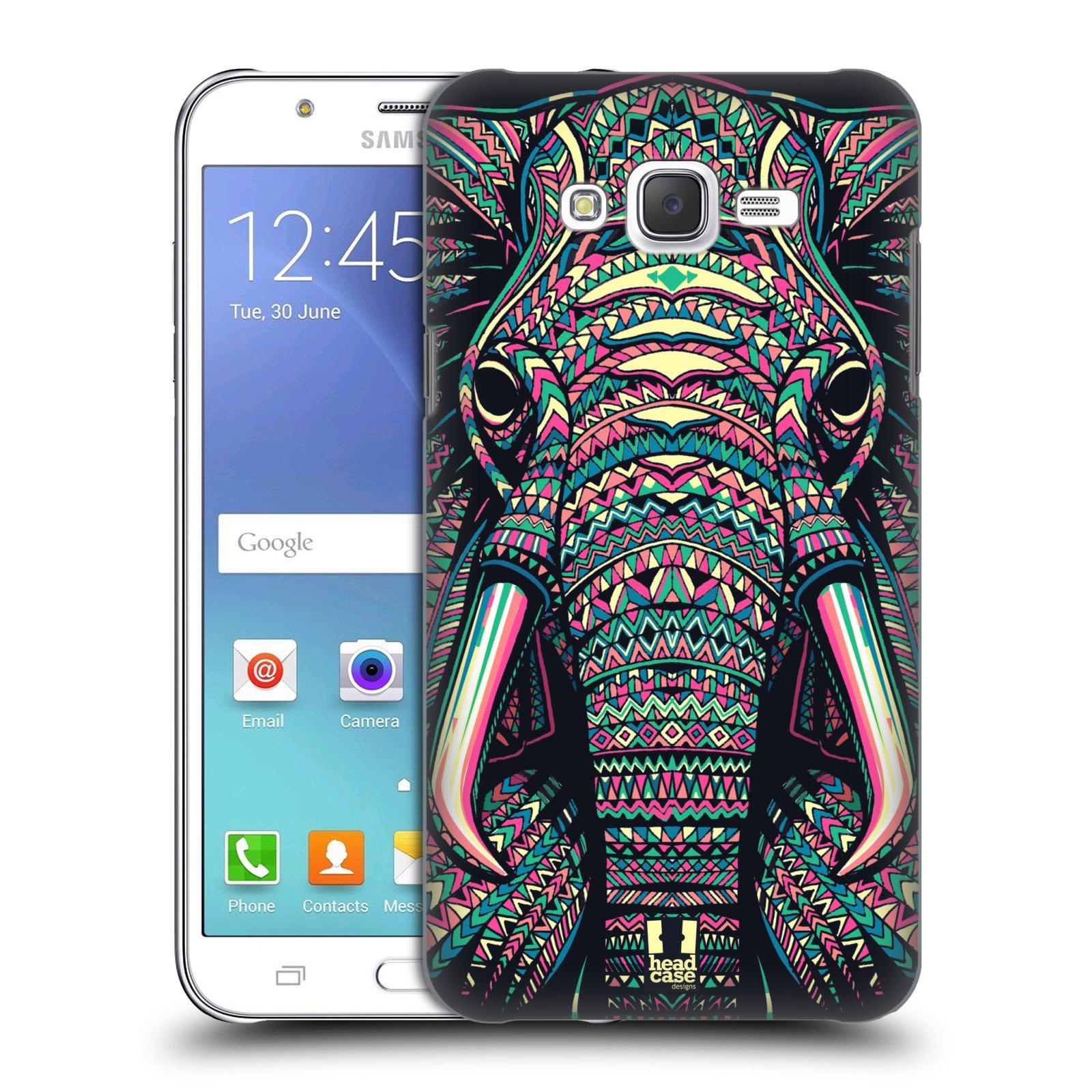 HEAD CASE plastový obal na mobil SAMSUNG Galaxy J7, J700 vzor Aztécký motiv zvíře 2 slon