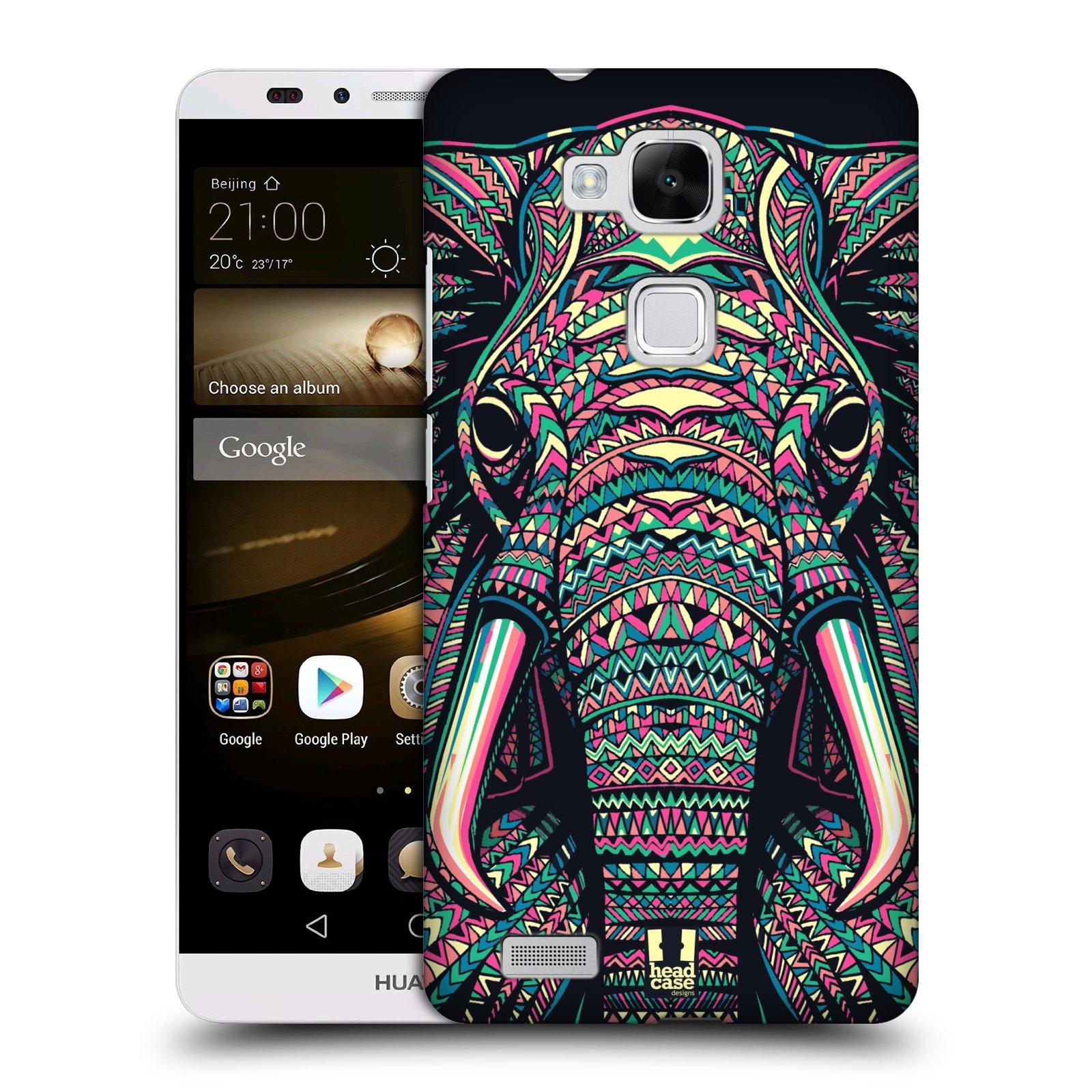 HEAD CASE plastový obal na mobil Huawei Mate 7 vzor Aztécký motiv zvíře 2 slon