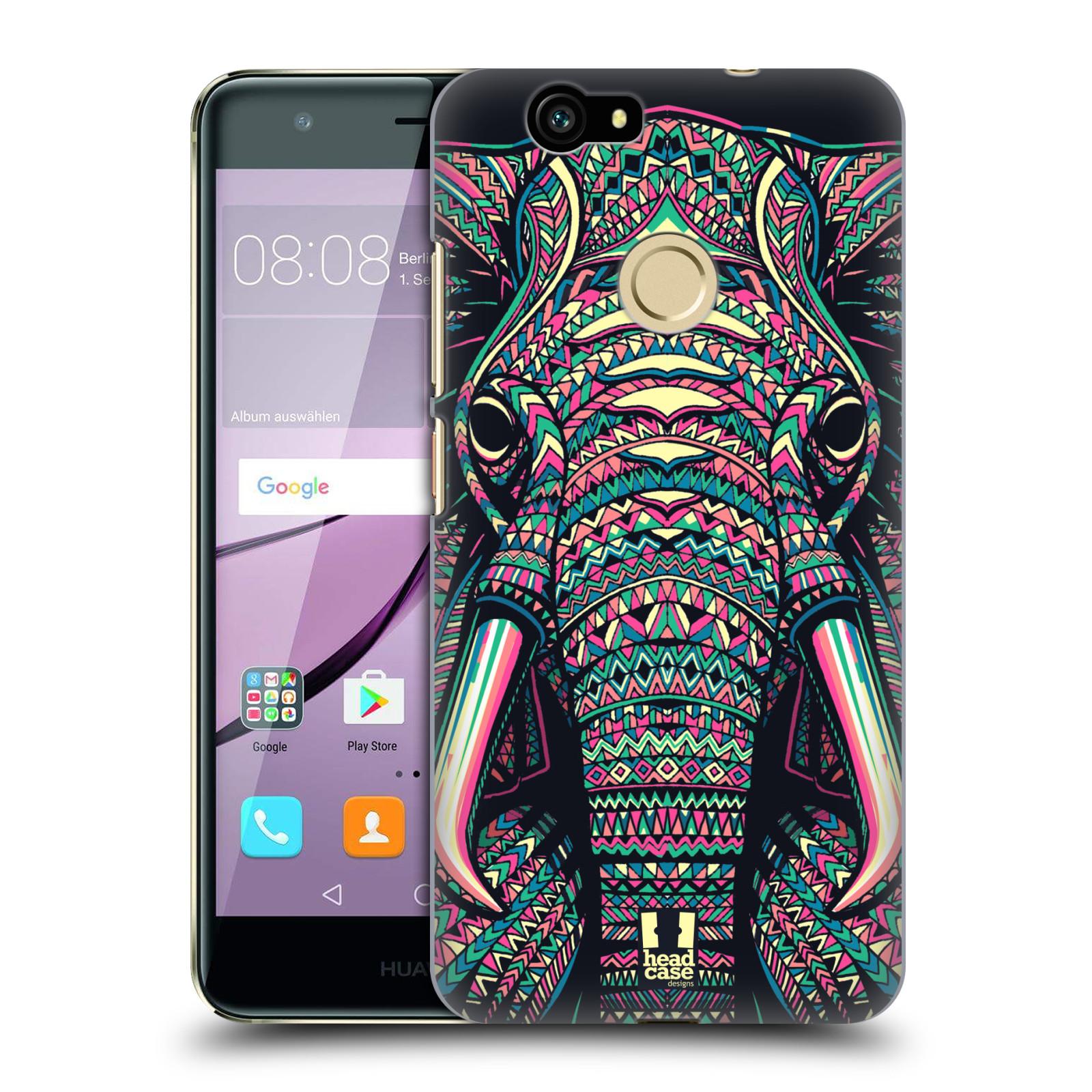 HEAD CASE silikonový obal na mobil Huawei NOVA / NOVA DUAL SIM vzor Aztécký motiv zvíře 2 slon