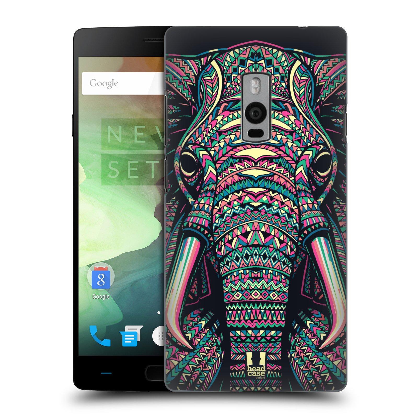 HEAD CASE pevný plastový obal na mobil OnePlus 2  ( TWO ) vzor Aztécký motiv zvíře 2 slon