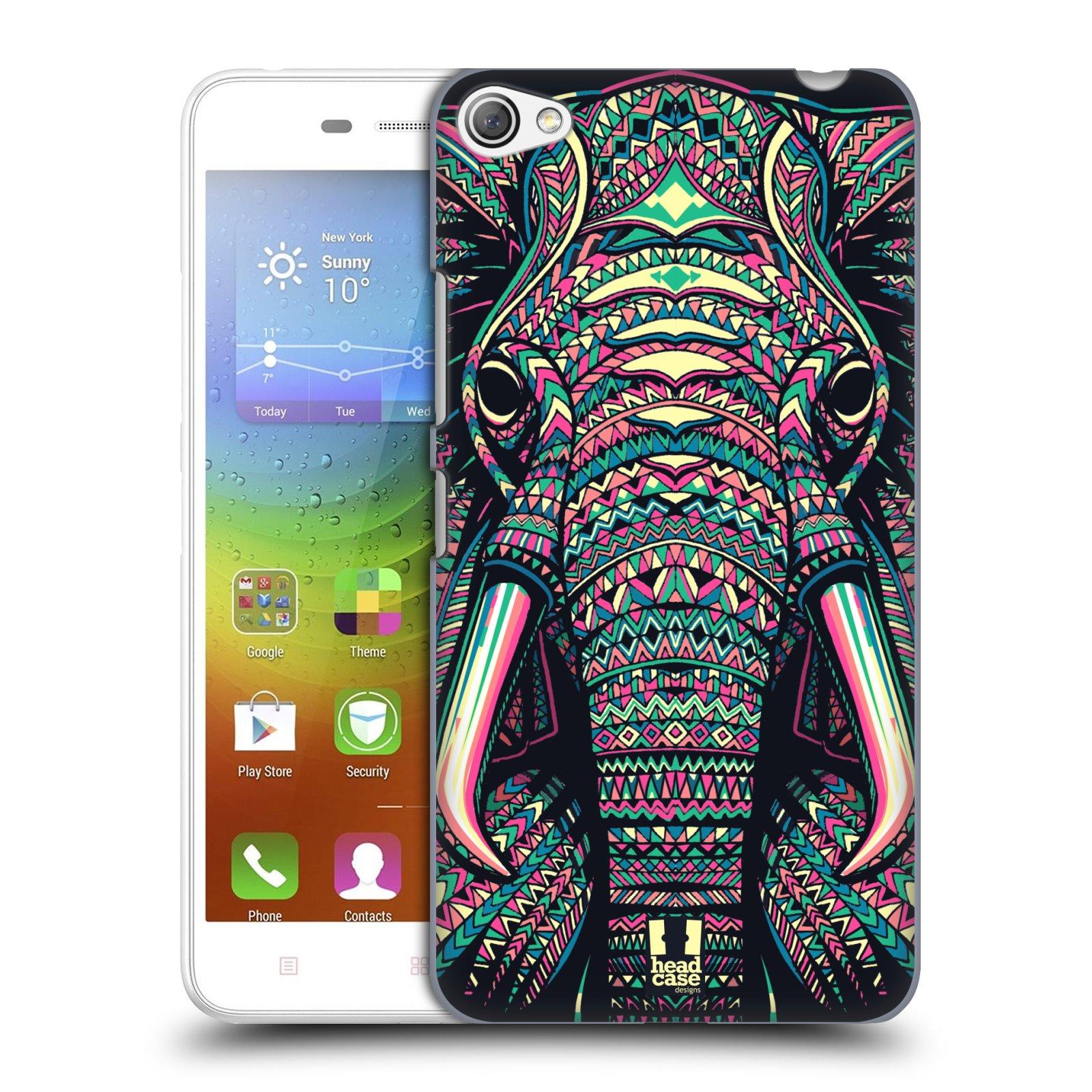HEAD CASE pevný plastový obal na mobil LENOVO S60 / LENOVO S60 DUAL SIM vzor Aztécký motiv zvíře 2 slon