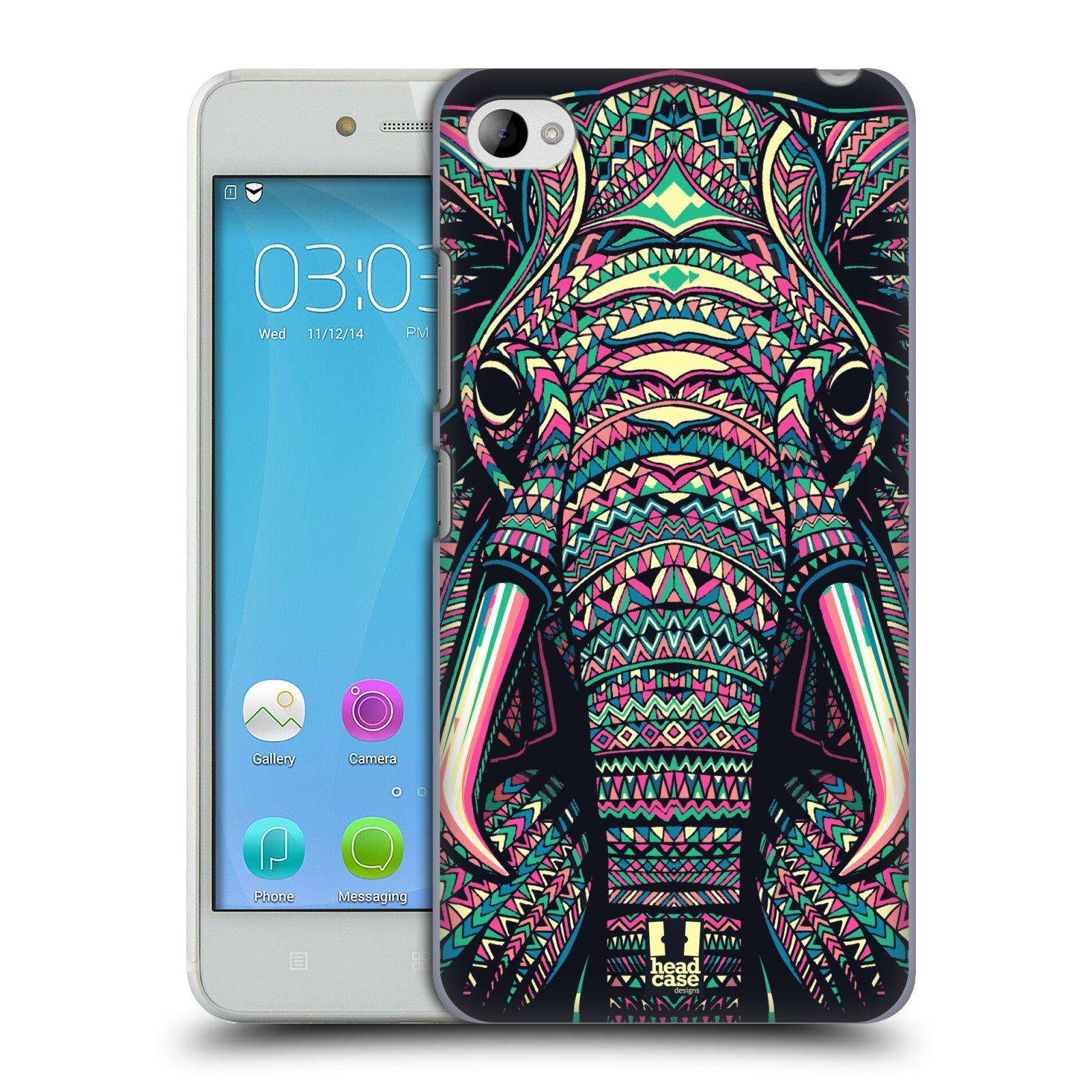 HEAD CASE pevný plastový obal na mobil LENOVO S90 vzor Aztécký motiv zvíře 2 slon