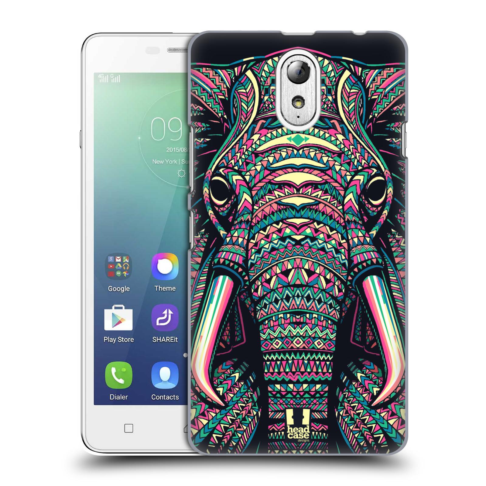 HEAD CASE pevný plastový obal na mobil LENOVO VIBE P1m / LENOVO VIBE p1m DUAL SIM vzor Aztécký motiv zvíře 2 slon