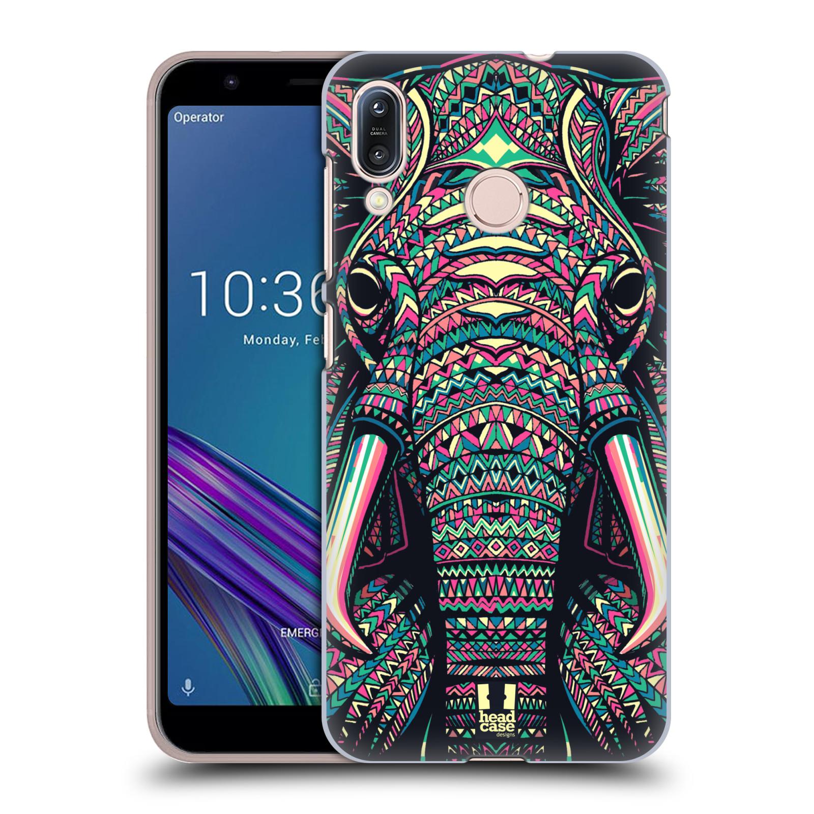 Pouzdro na mobil Asus Zenfone Max M1 (ZB555KL) - HEAD CASE - vzor Aztécký motiv zvíře 2 slon