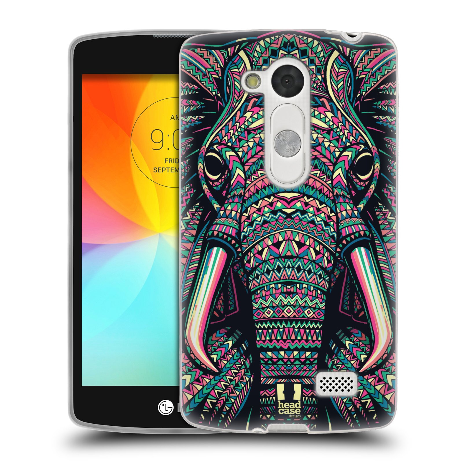 HEAD CASE AZTEC ANIMAL FACES SERIES 2 SILICONE GEL CASE FOR LG L FINO D290N