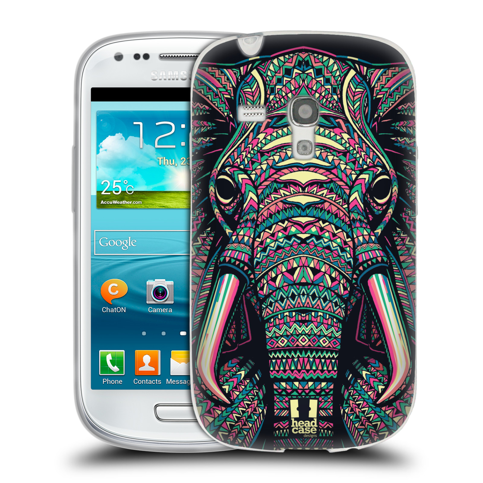 HEAD CASE silikonový obal na mobil Samsung Galaxy S3 MINI i8190 vzor Aztécký motiv zvíře 2 slon