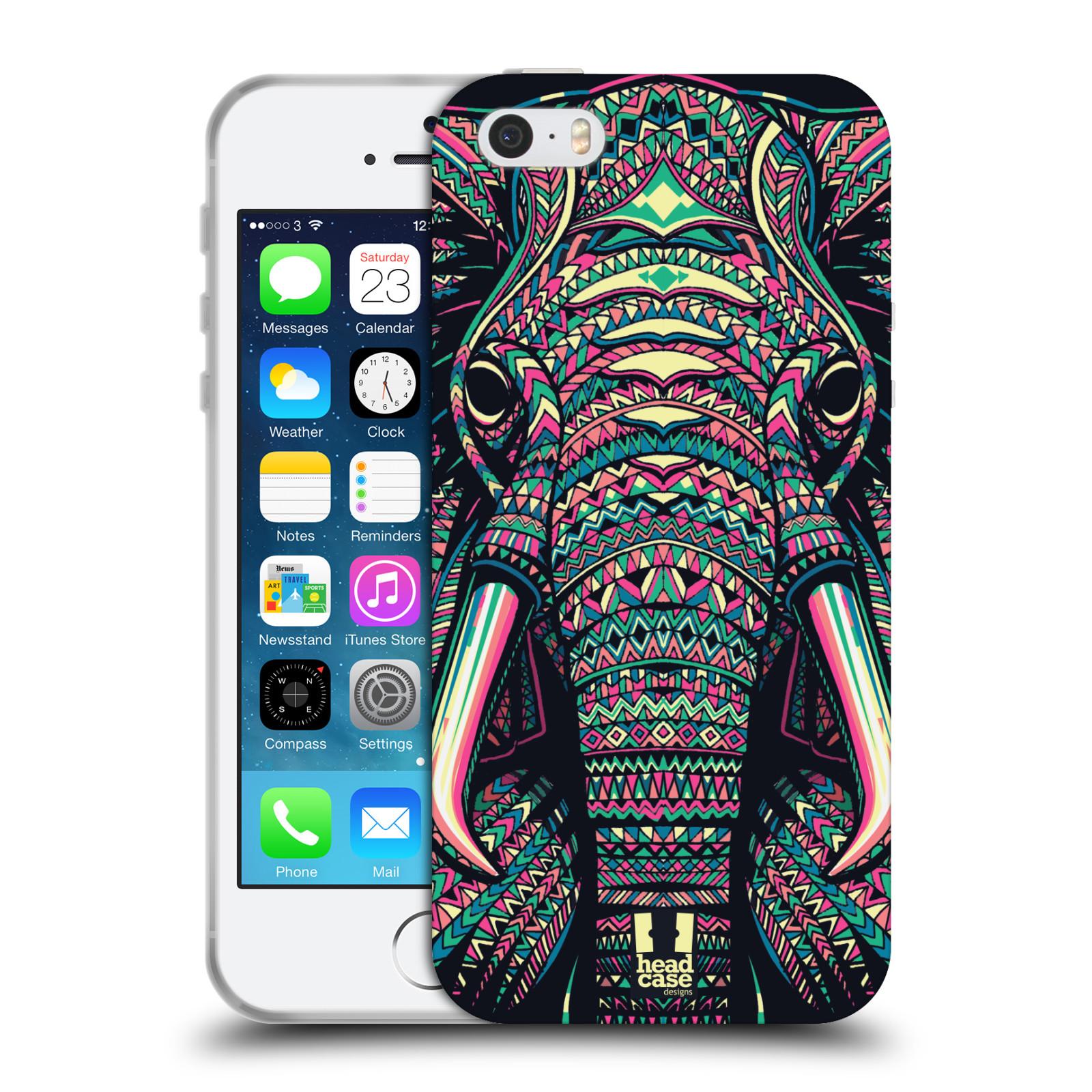 HEAD CASE silikonový obal na mobil Apple Iphone 5 5S vzor Aztécký motiv  zvíře 2 empty e3694f6c914