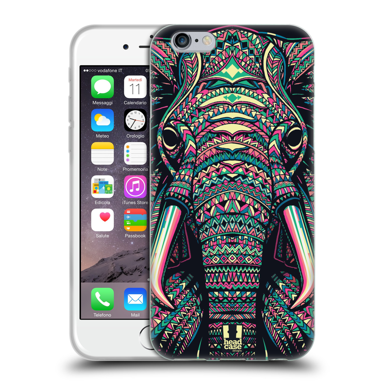 HEAD CASE silikonový obal na mobil Apple Iphone 6/6S vzor Aztécký motiv zvíře 2 slon