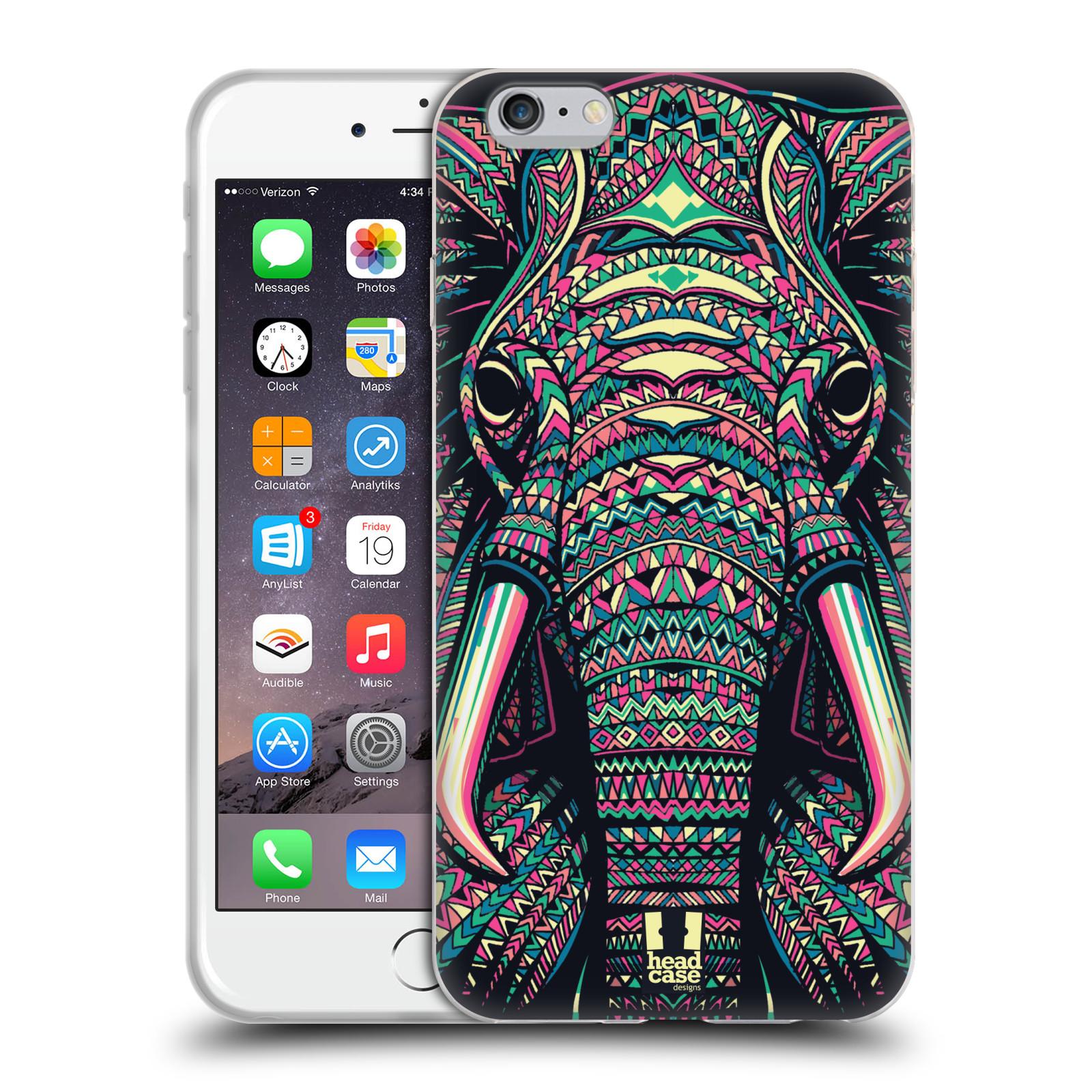 HEAD CASE silikonový obal na mobil Apple Iphone 6 PLUS/ 6S PLUS vzor Aztécký motiv zvíře 2 slon