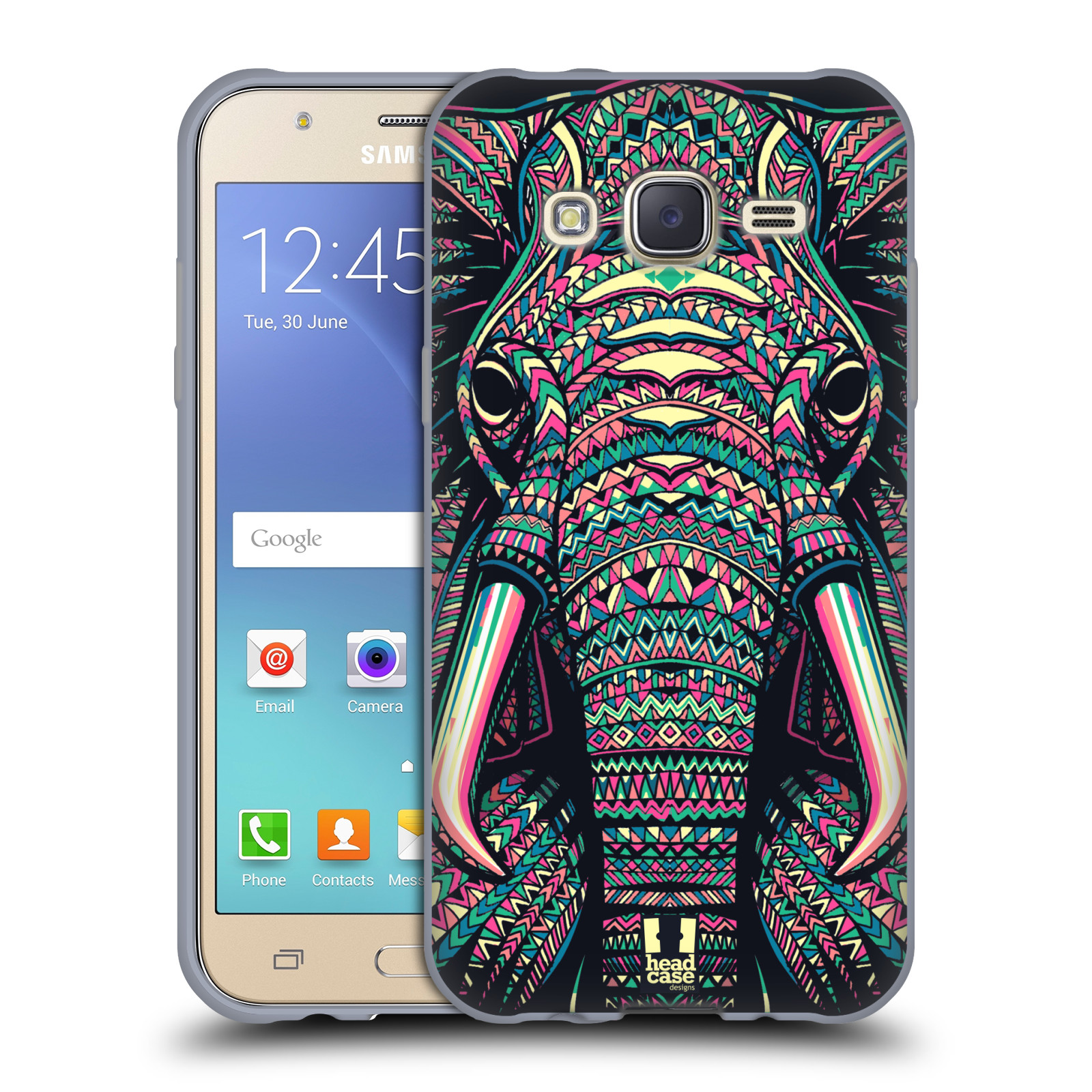 HEAD CASE silikonový obal na mobil Samsung Galaxy J5, J500, (J5 DUOS) vzor Aztécký motiv zvíře 2 slon