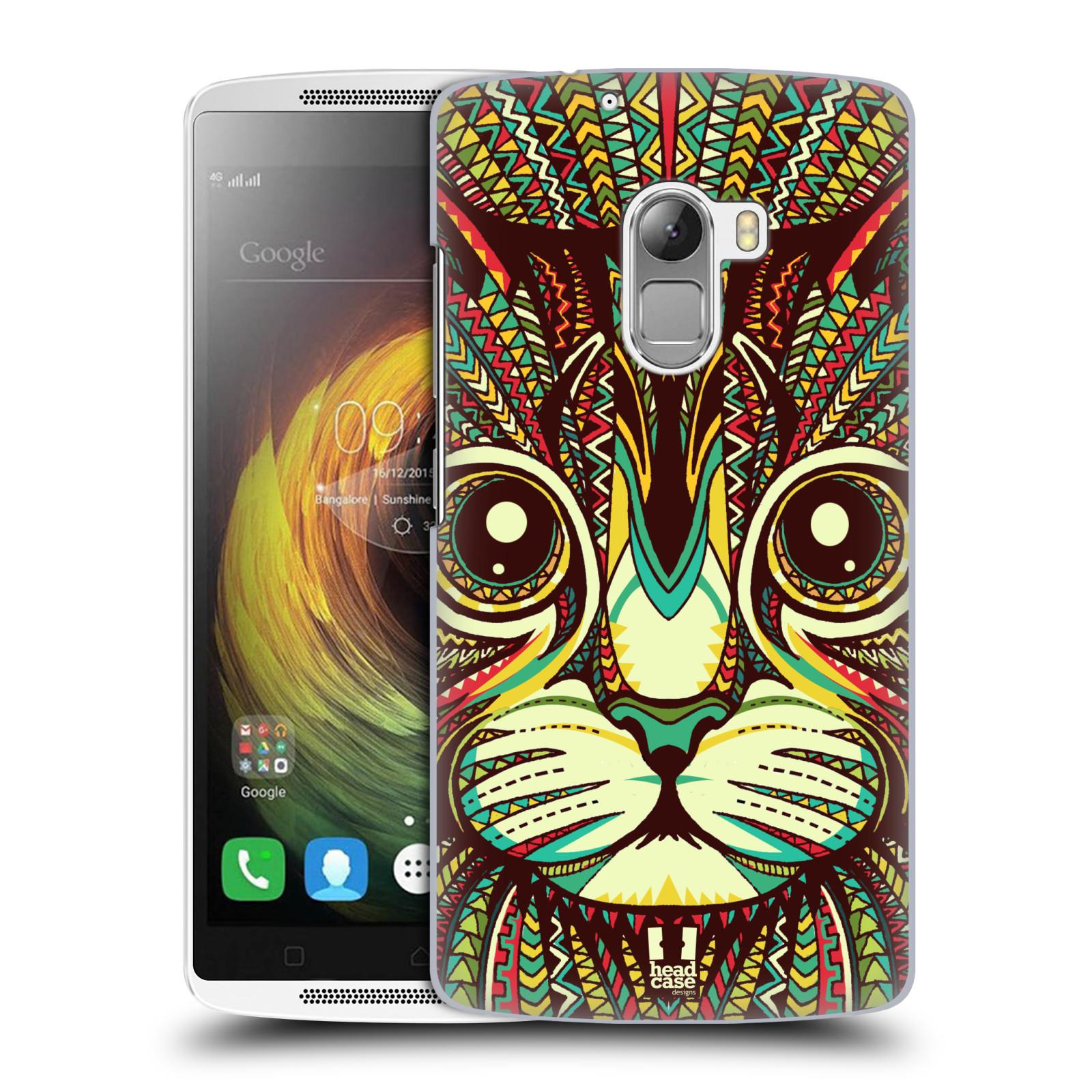 HEAD CASE pevný plastový obal na mobil LENOVO A7010 / A7010 DUAL / K4 Note / Vibe X3 lite vzor Aztécký motiv zvíře 2 kotě