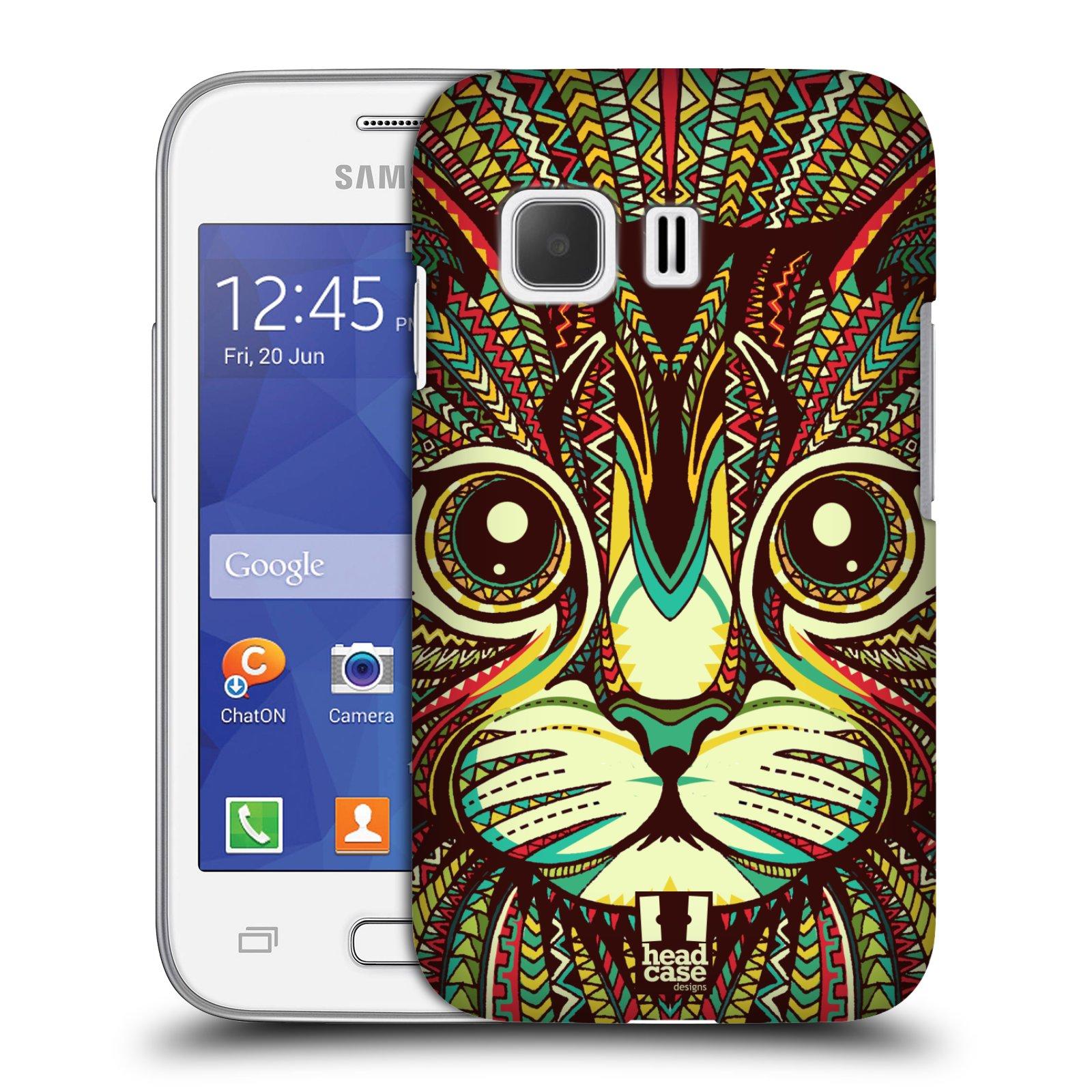 HEAD CASE plastový obal na mobil SAMSUNG Galaxy Young 2 (G130) vzor Aztécký motiv zvíře 2 kotě