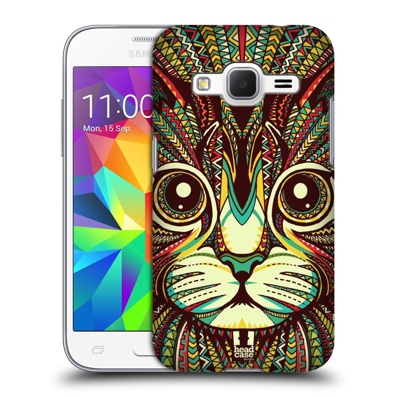 HEAD CASE plastový obal na mobil SAMSUNG GALAXY Core Prime (Core Prime VE) vzor Aztécký motiv zvíře 2 kotě