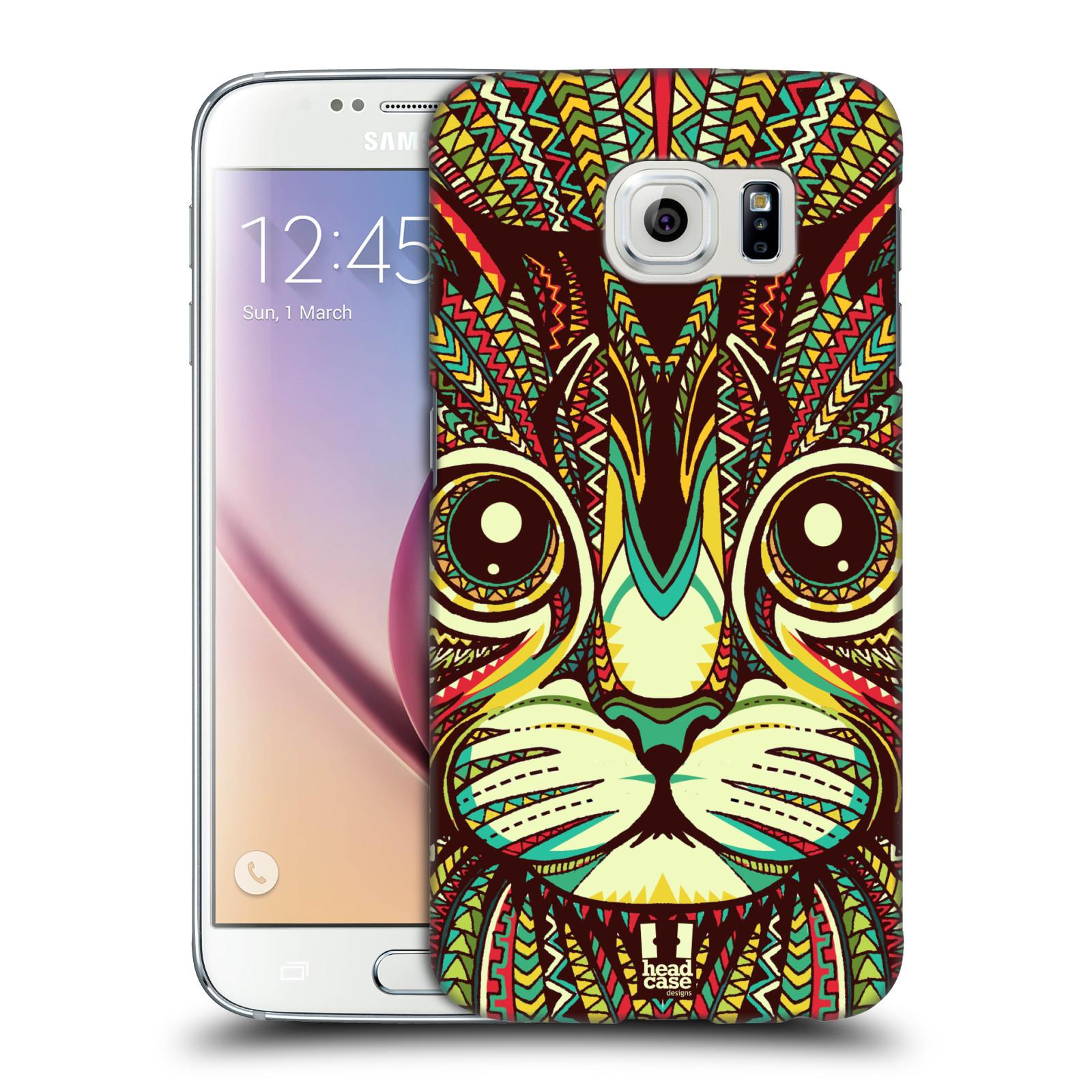 HEAD CASE plastový obal na mobil SAMSUNG Galaxy S6 (G9200, G920F) vzor Aztécký motiv zvíře 2 kotě