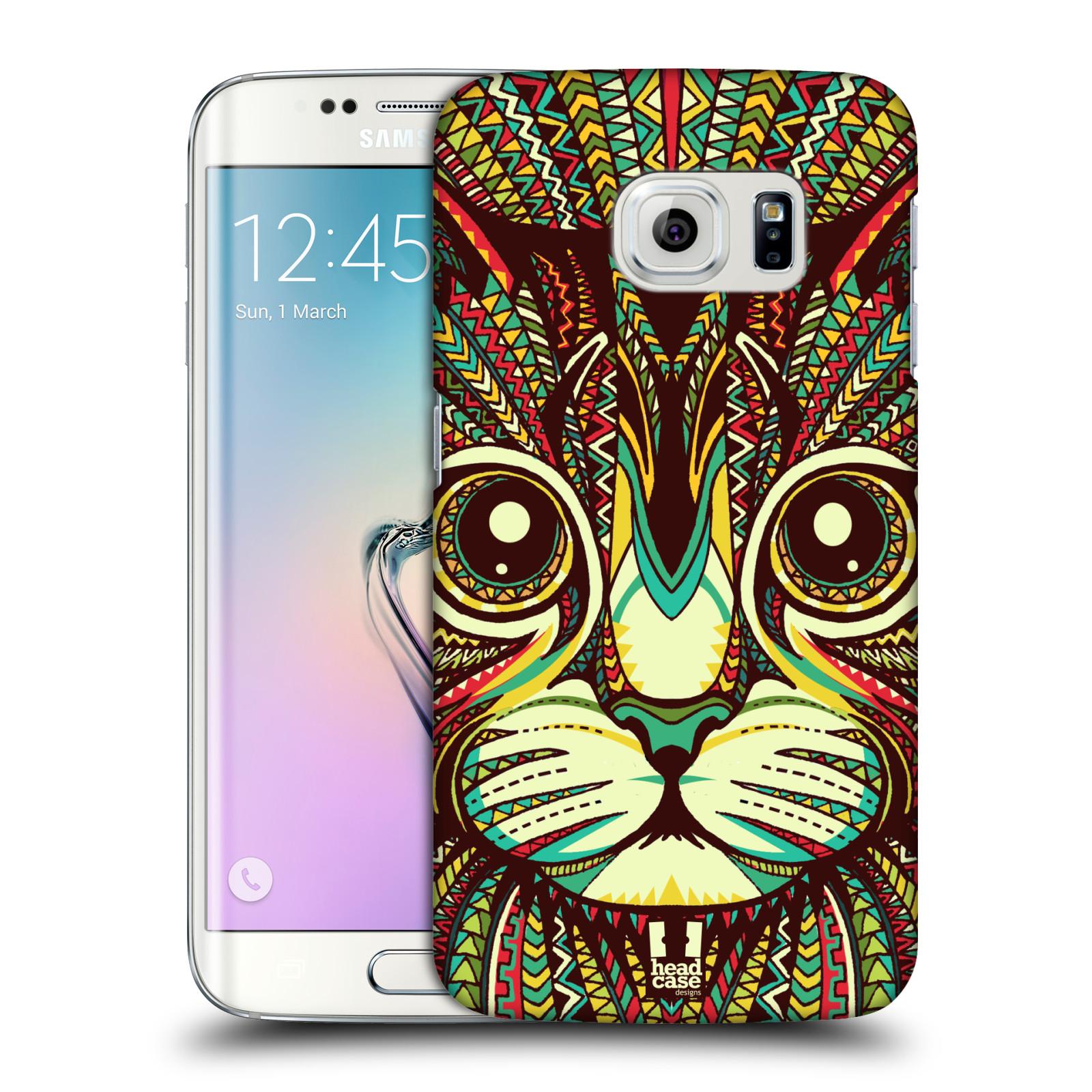 HEAD CASE plastový obal na mobil SAMSUNG Galaxy S6 EDGE (G9250, G925, G925F) vzor Aztécký motiv zvíře 2 kotě