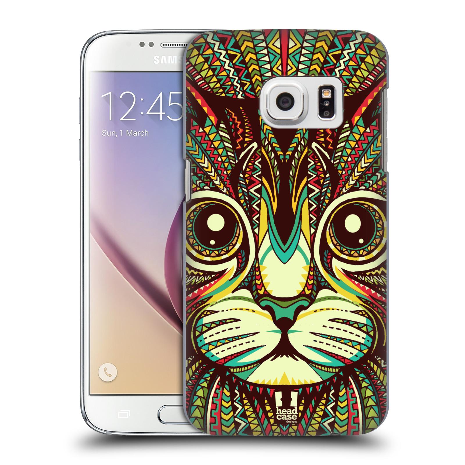 HEAD CASE plastový obal na mobil SAMSUNG GALAXY S7 vzor Aztécký motiv zvíře 2 kotě