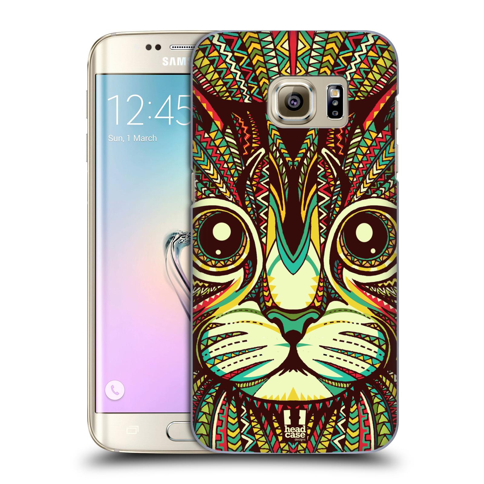 HEAD CASE plastový obal na mobil SAMSUNG GALAXY S7 EDGE vzor Aztécký motiv zvíře 2 kotě