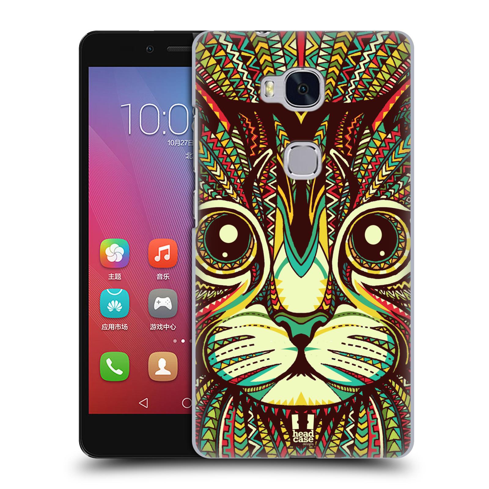 HEAD CASE pevný plastový obal na mobil HUAWEI HONOR 5X vzor Aztécký motiv zvíře 2 kotě