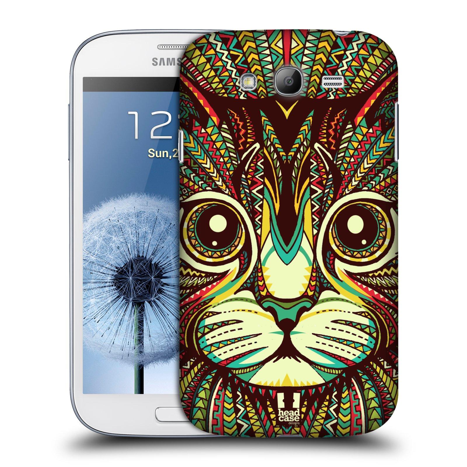 HEAD CASE plastový obal na mobil SAMSUNG GALAXY Grand i9080 vzor Aztécký motiv zvíře 2 kotě
