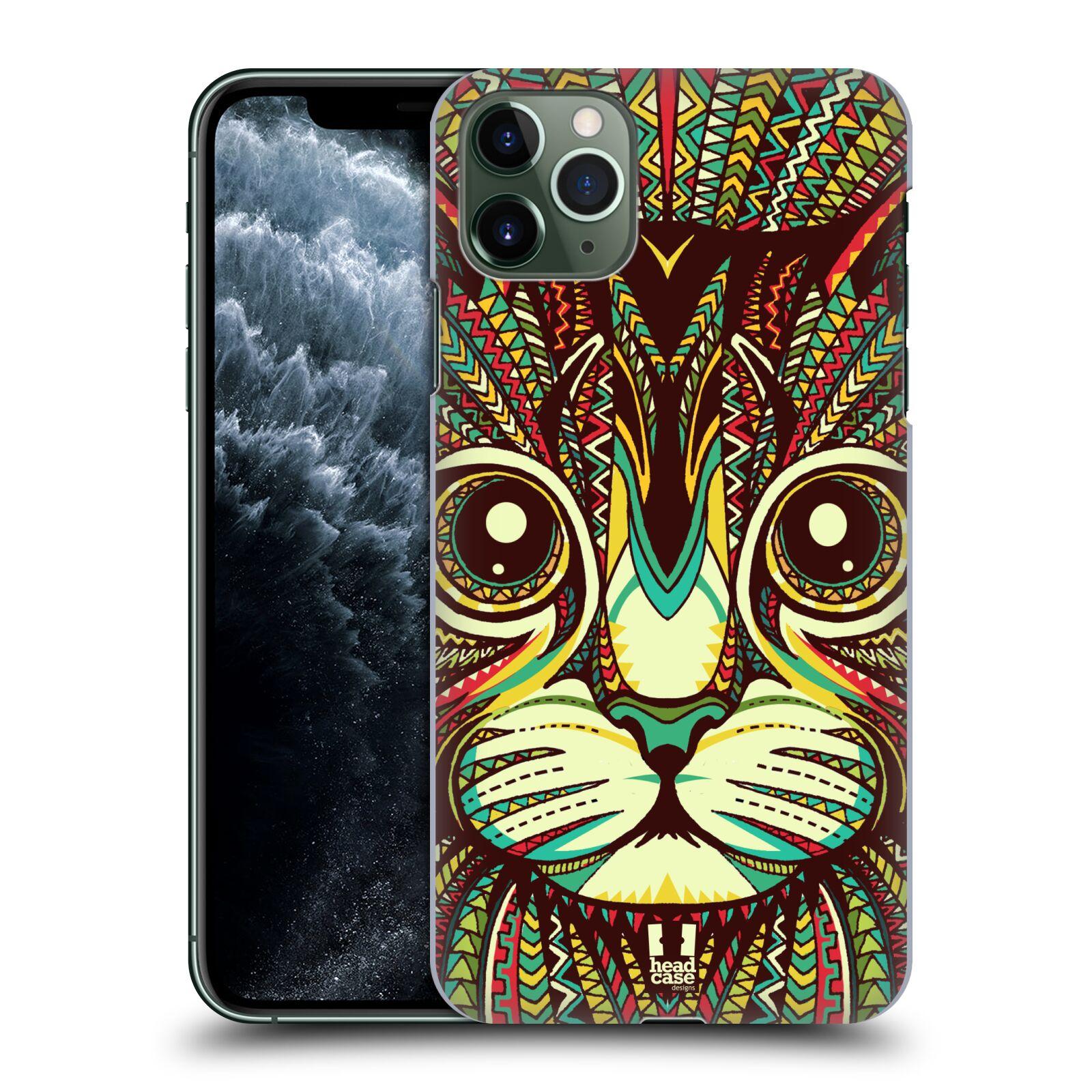 Pouzdro na mobil Apple Iphone 11 PRO MAX - HEAD CASE - vzor Aztécký motiv zvíře 2 kotě