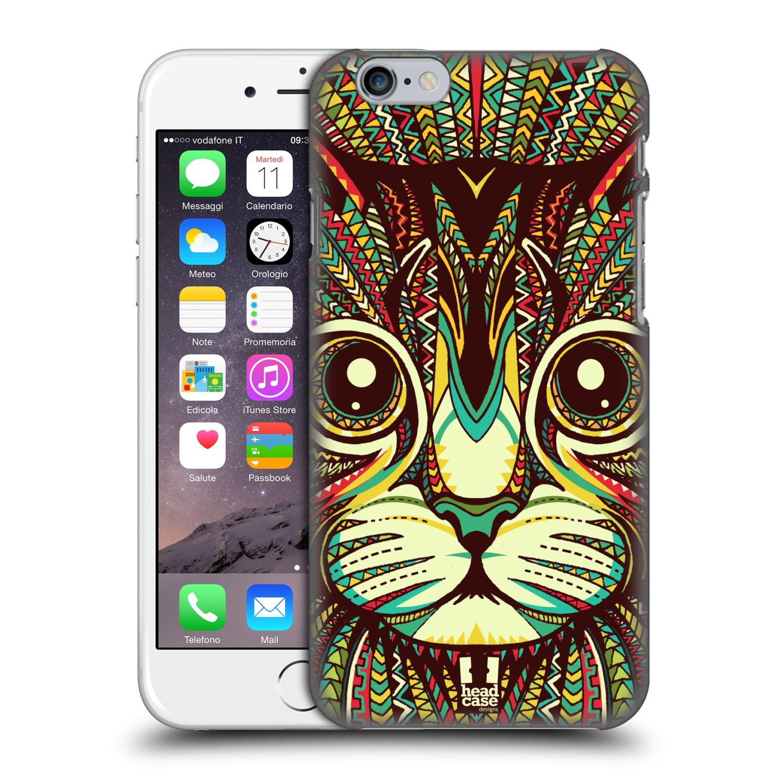 Plastové pouzdro pro mobil Apple Iphone 6/6S vzor Aztécký motiv zvíře 2 kotě