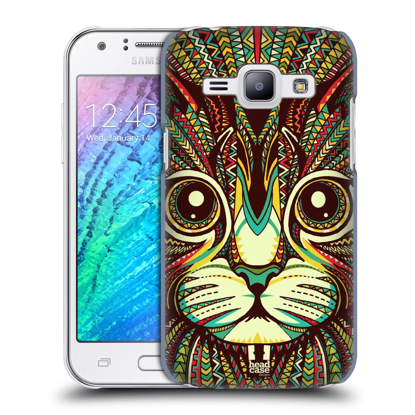 HEAD CASE plastový obal na mobil SAMSUNG Galaxy J1, J100 vzor Aztécký motiv zvíře 2 kotě