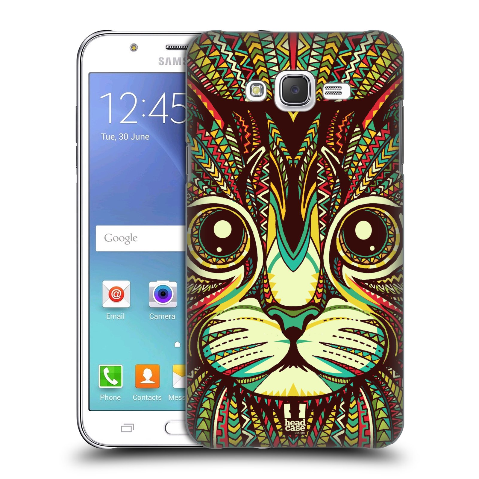 HEAD CASE plastový obal na mobil SAMSUNG Galaxy J7, J700 vzor Aztécký motiv zvíře 2 kotě