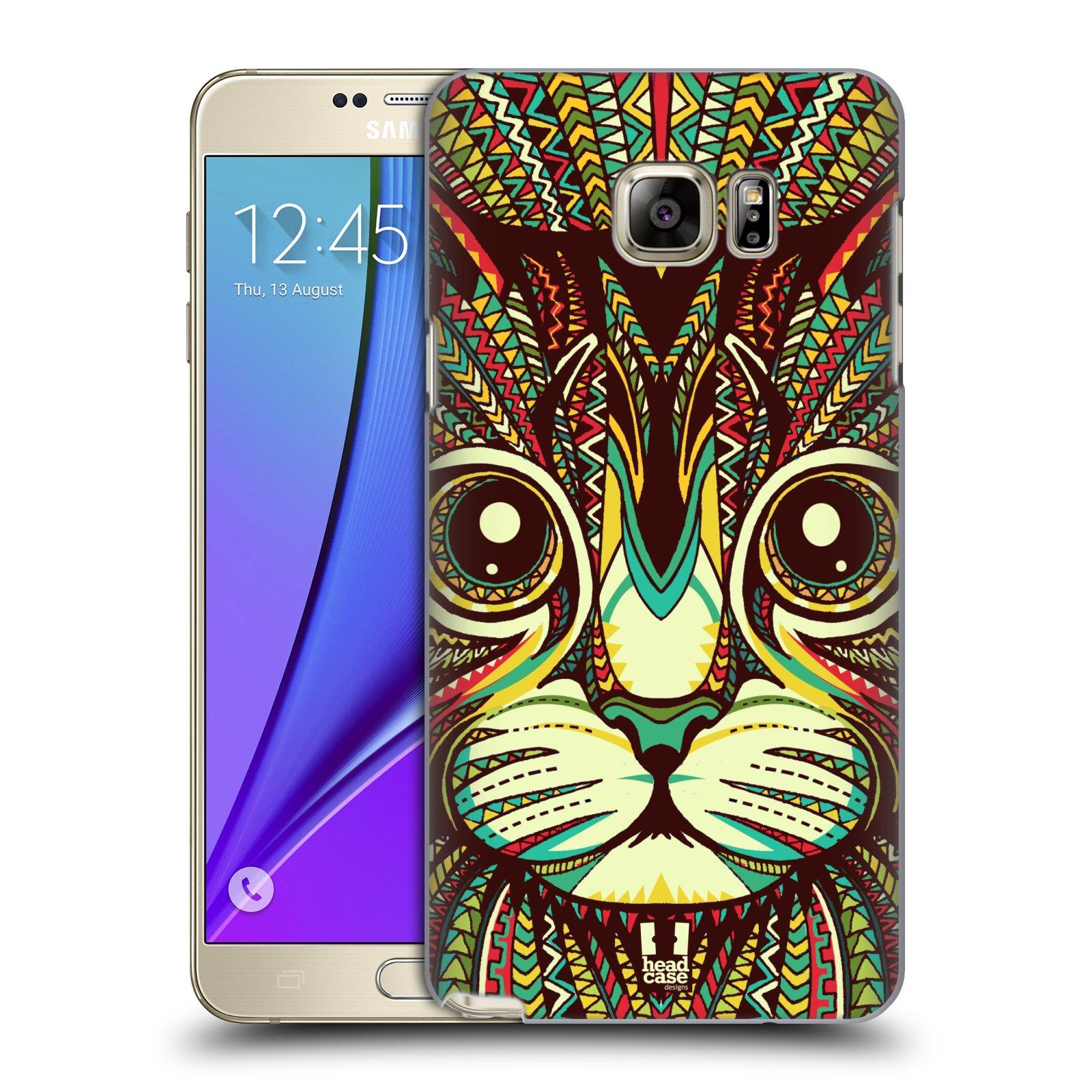 HEAD CASE plastový obal na mobil SAMSUNG Galaxy Note 5 (N920) vzor Aztécký motiv zvíře 2 kotě