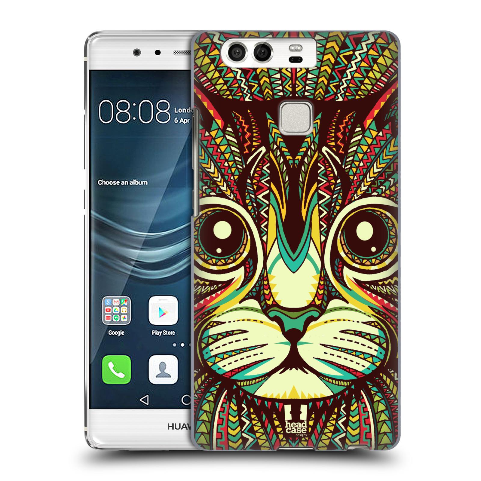 HEAD CASE plastový obal na mobil Huawei P9 / P9 DUAL SIM vzor Aztécký motiv zvíře 2 kotě