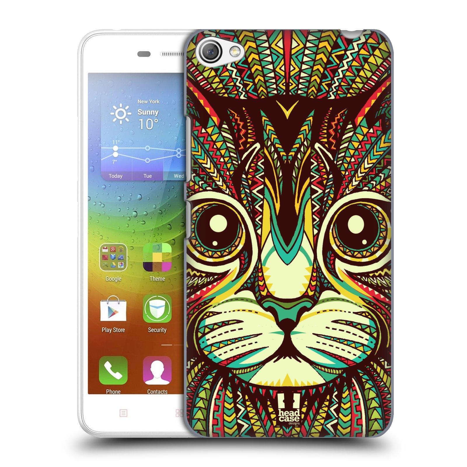 HEAD CASE pevný plastový obal na mobil LENOVO S60 / LENOVO S60 DUAL SIM vzor Aztécký motiv zvíře 2 kotě