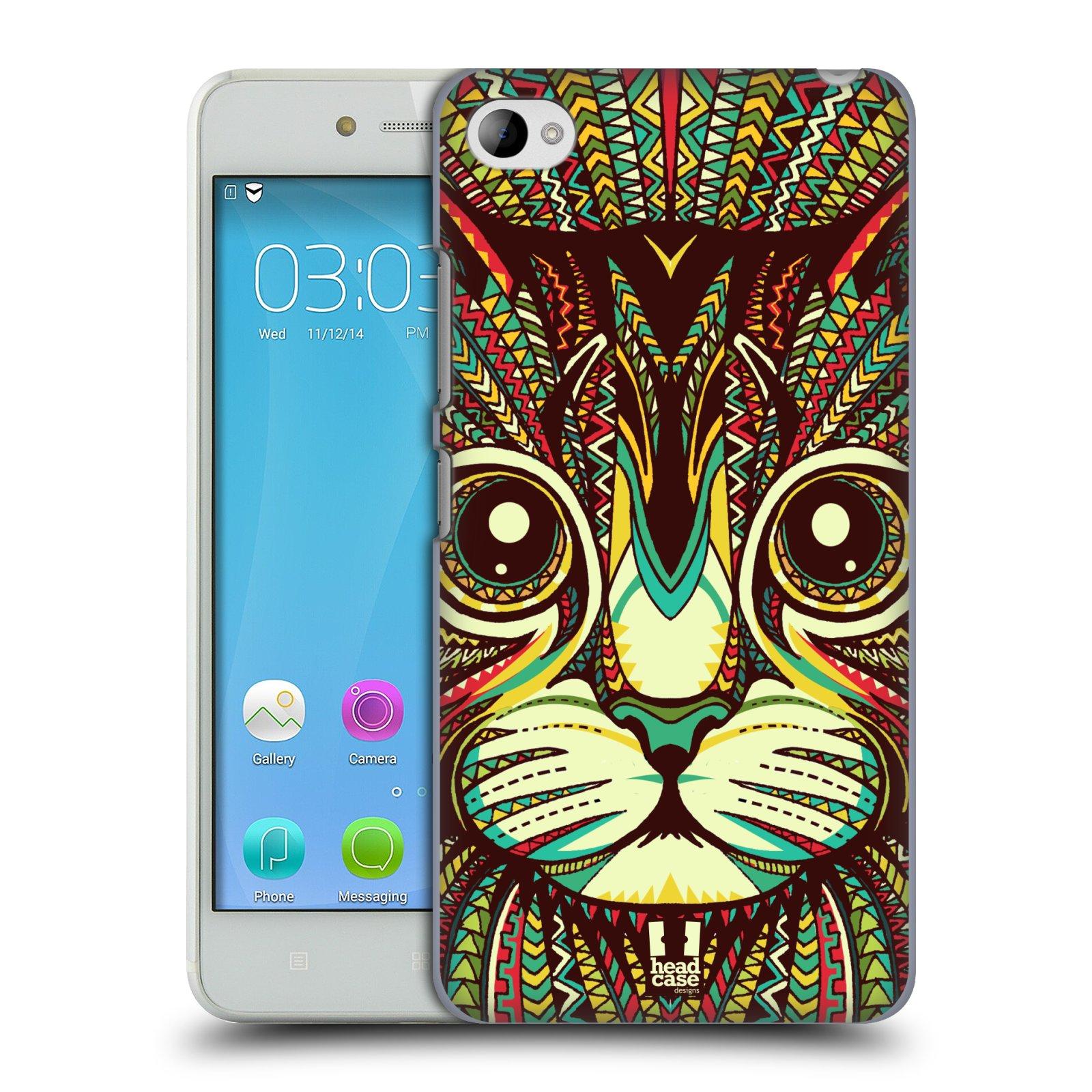 HEAD CASE pevný plastový obal na mobil LENOVO S90 vzor Aztécký motiv zvíře 2 kotě