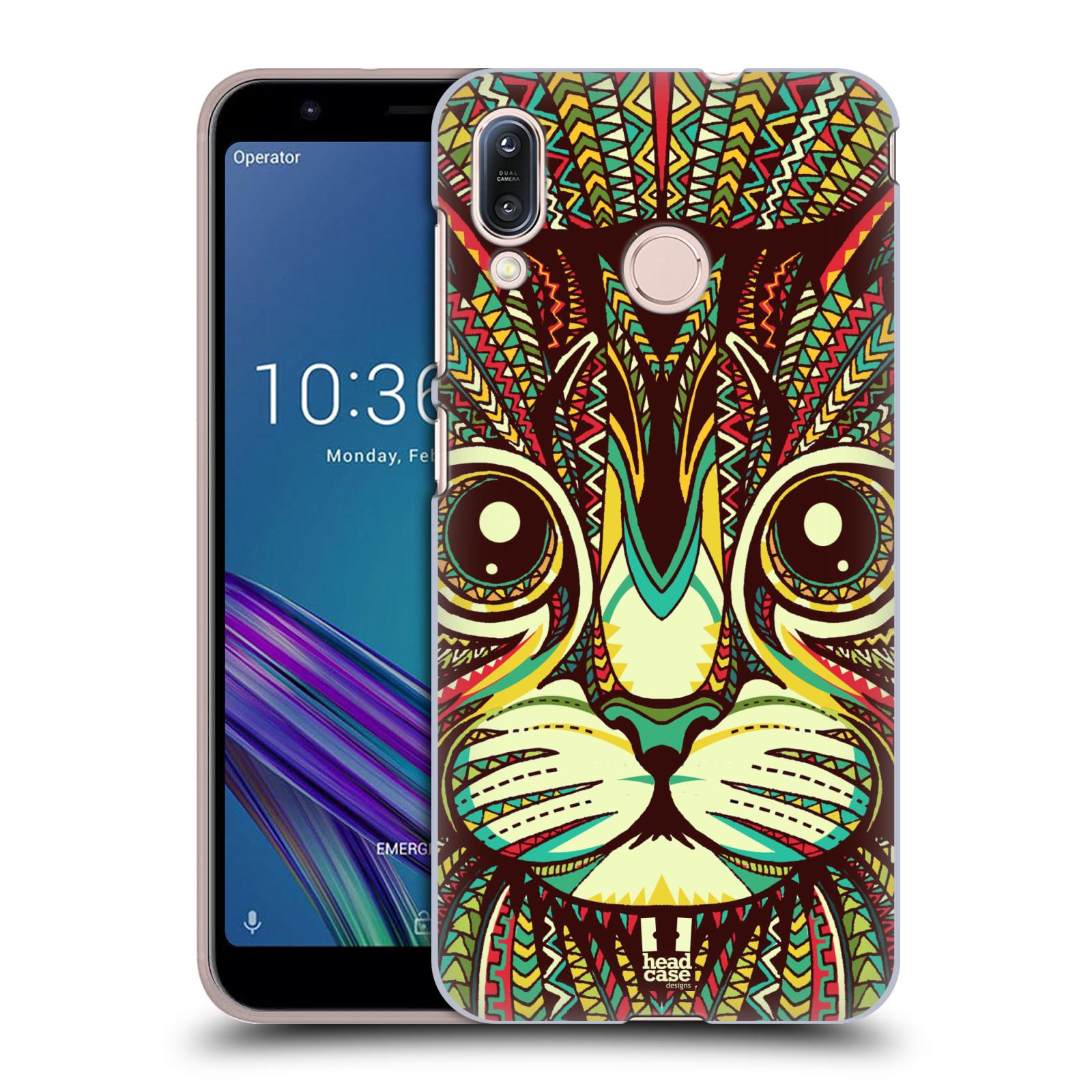 Pouzdro na mobil Asus Zenfone Max M1 (ZB555KL) - HEAD CASE - vzor Aztécký motiv zvíře 2 kotě
