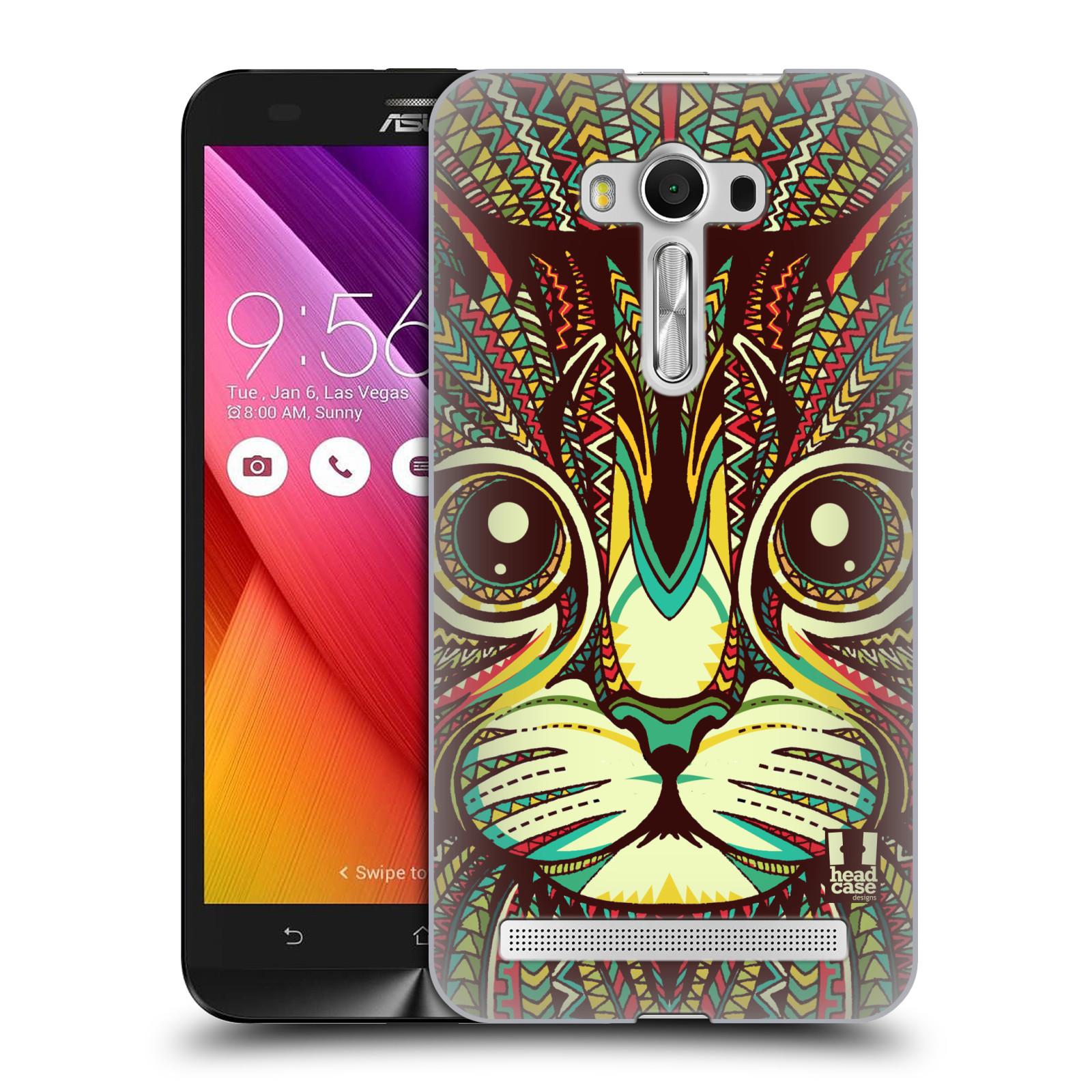 HEAD CASE plastový obal na mobil Asus Zenfone 2 LASER (5,5 displej ZE550KL) vzor Aztécký motiv zvíře 2 kotě